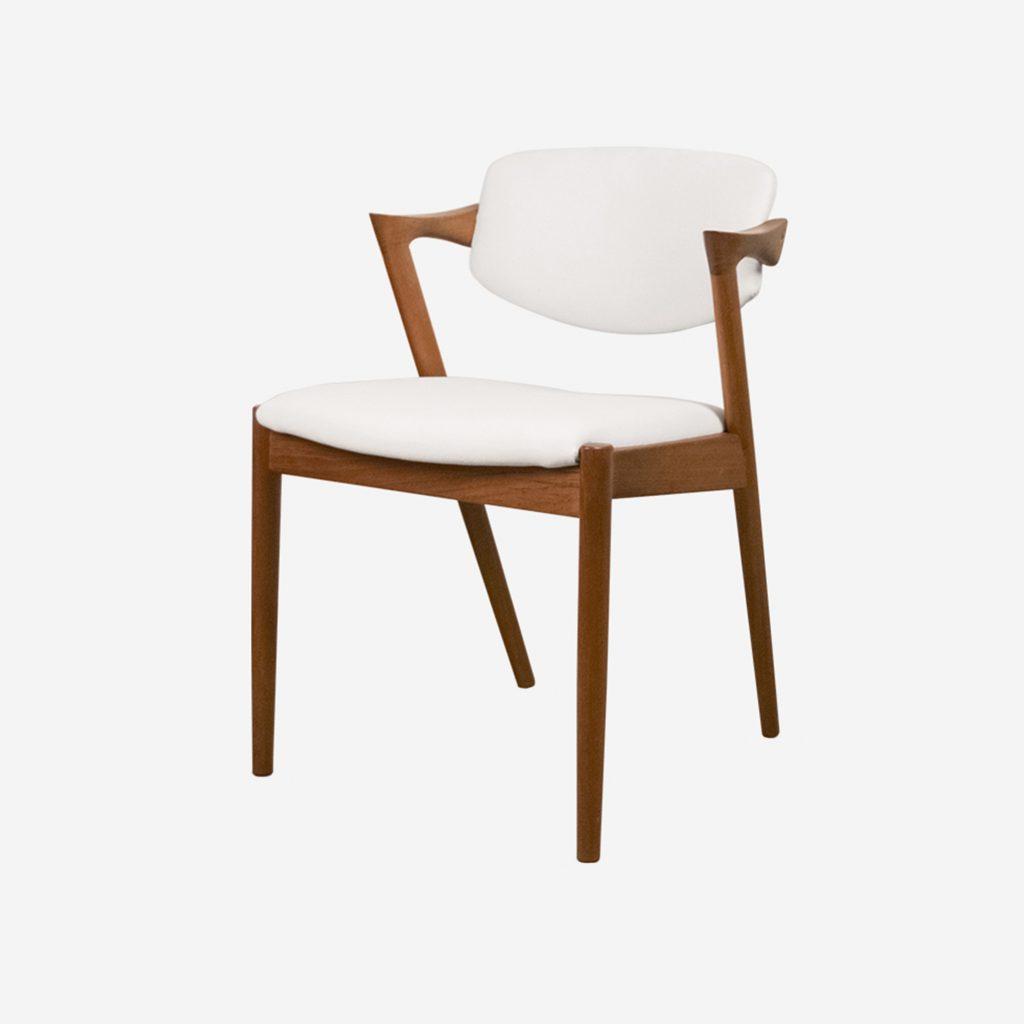 silla de diseño z comoda de comedor confortable kai kristiansen teca palosanto