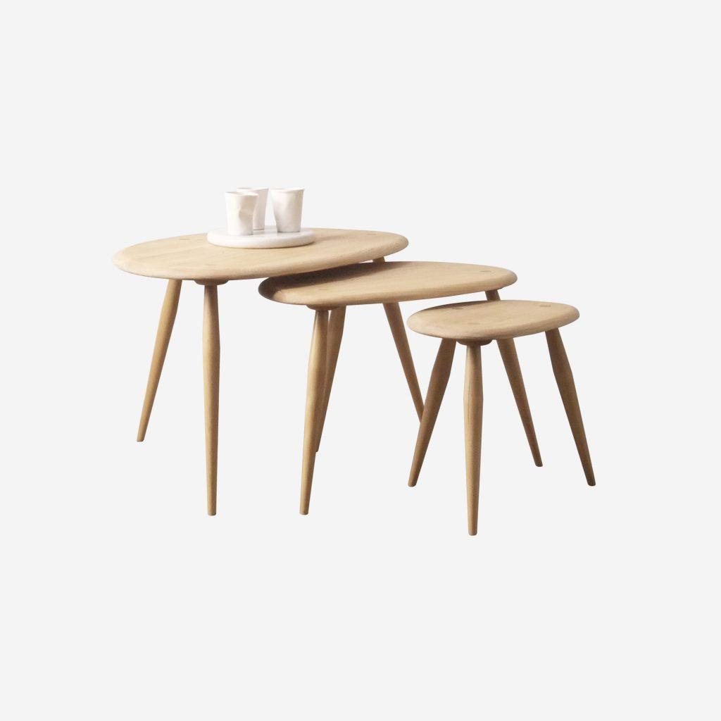 mesas nido de madera ercol mesa de madera
