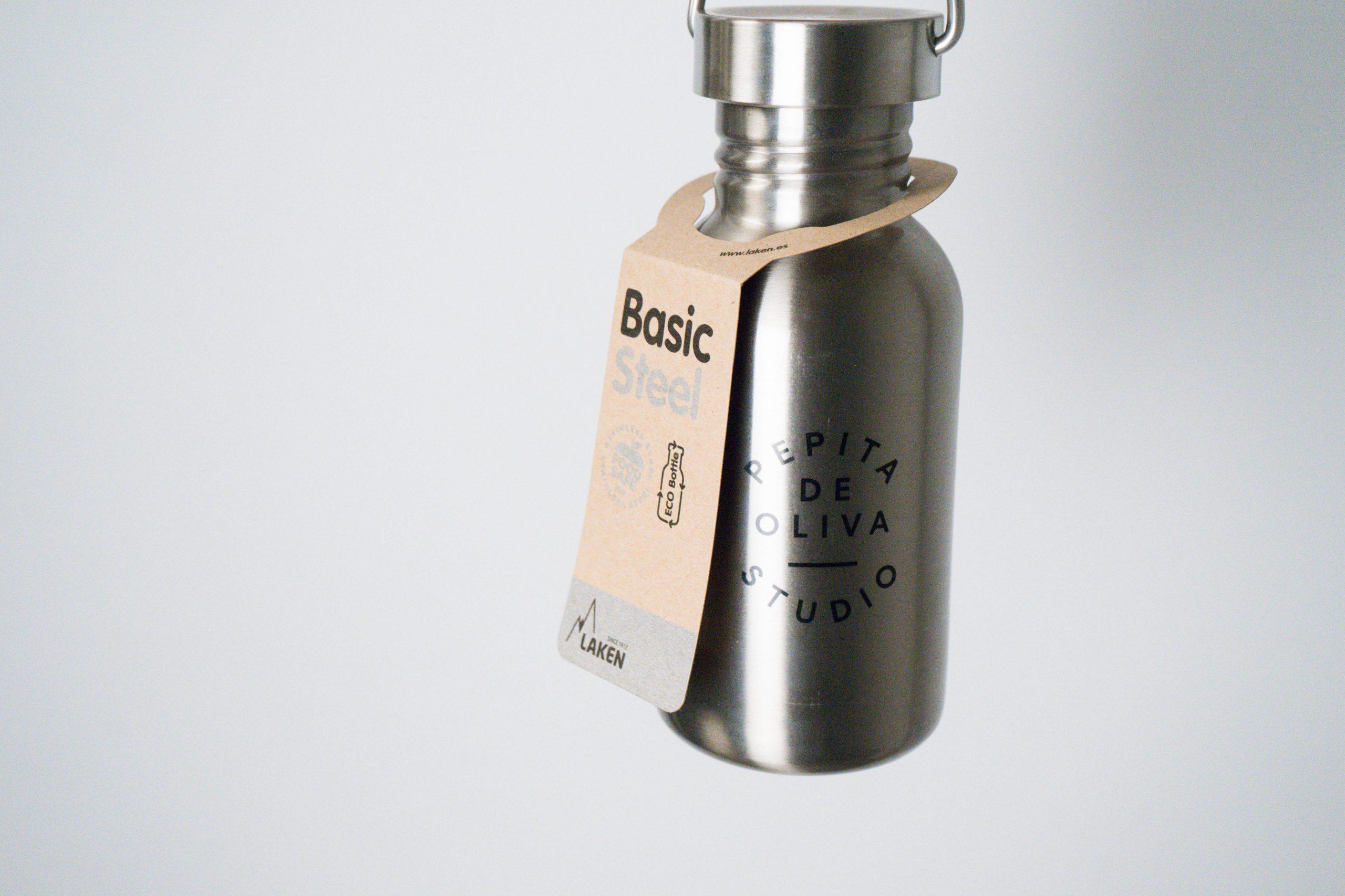 botella de aluminio acero inox metalica medio litro