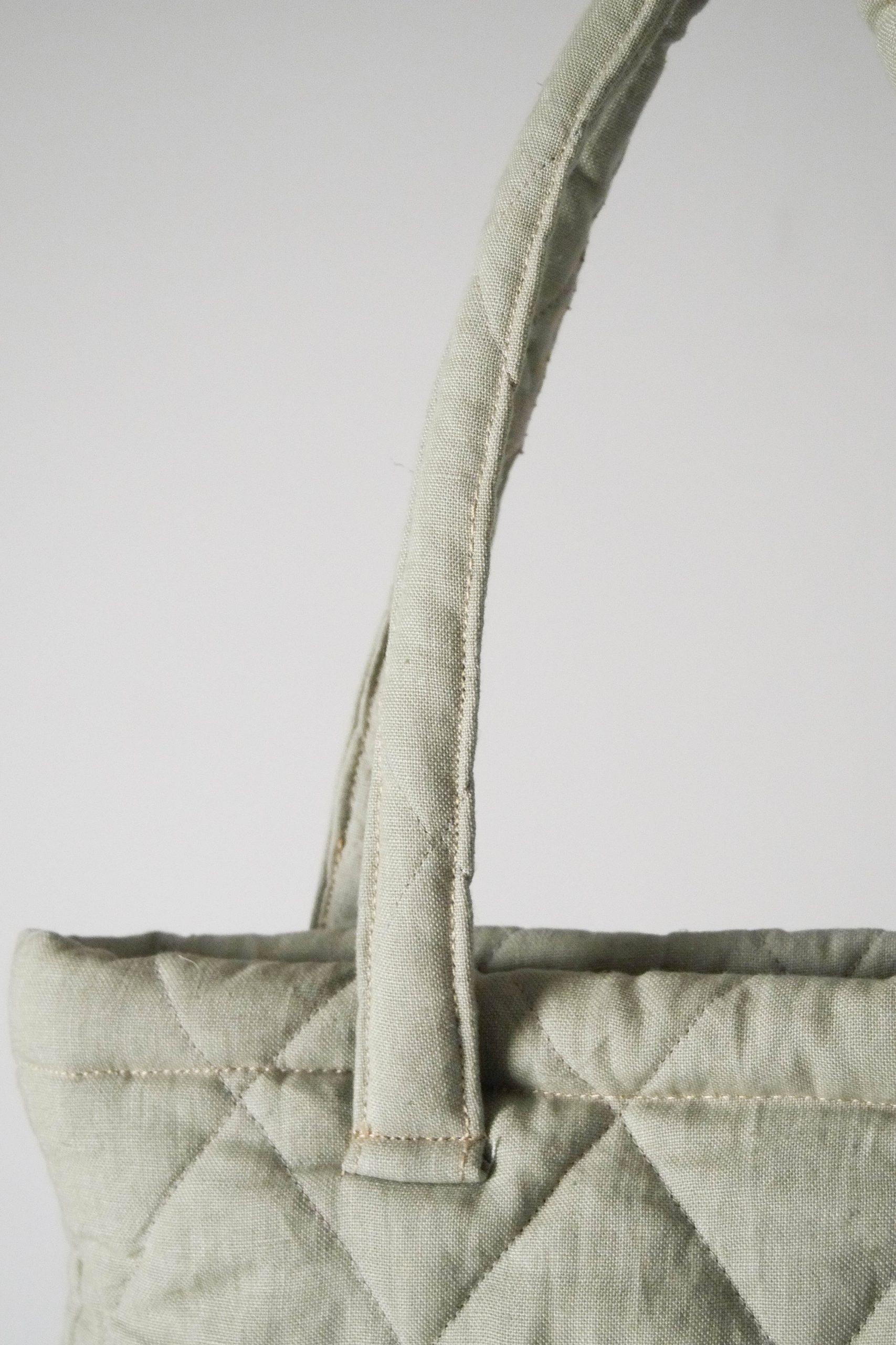 detalle asa bolsa con parche de piel