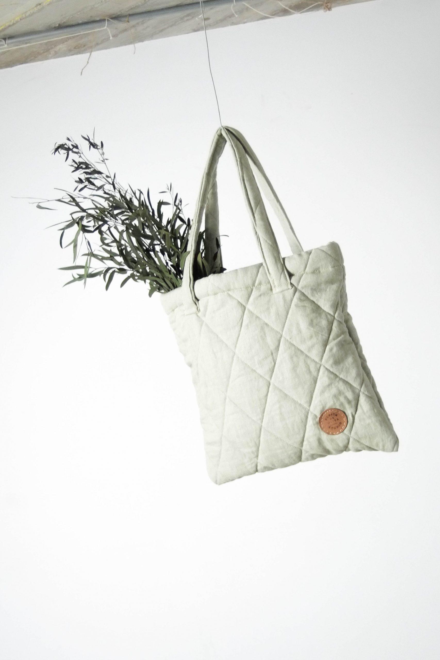 bolsa de diseño pepita de oliva de guata verde