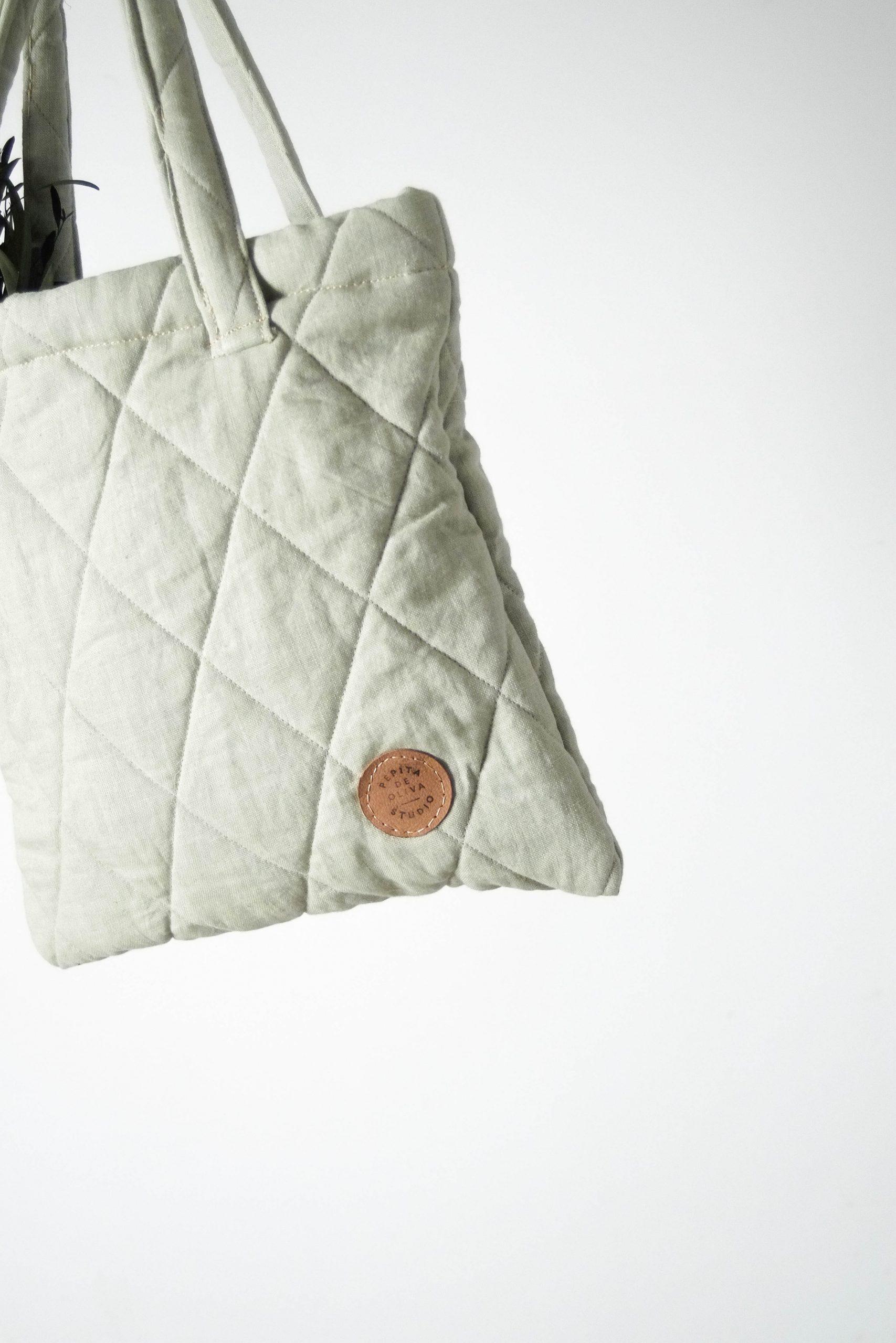 bolsa de guata verde de diseño piel parche