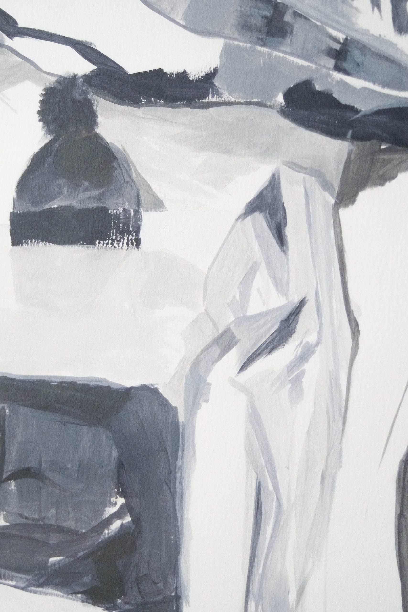 cuadro emarcado arte artista azul