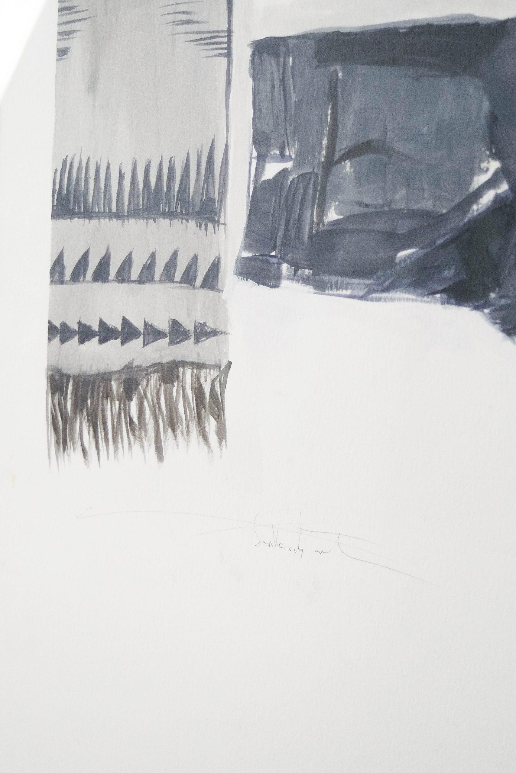 cuadro enmarcado gris azil maleta a ginebra