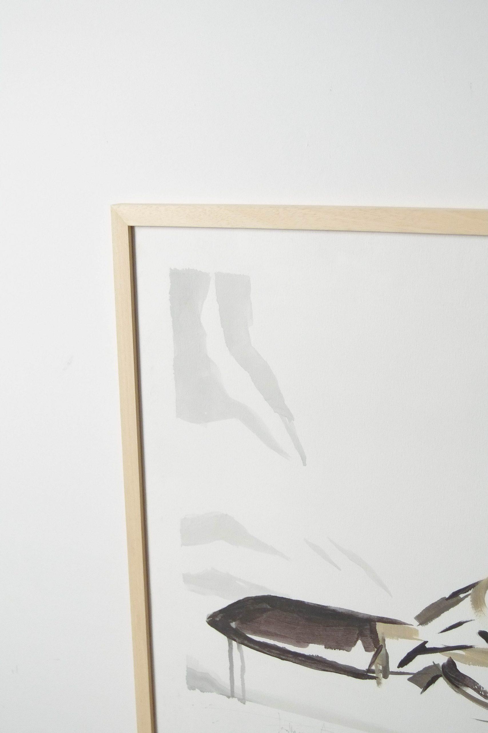 cuadro de madera acuarela de diseño