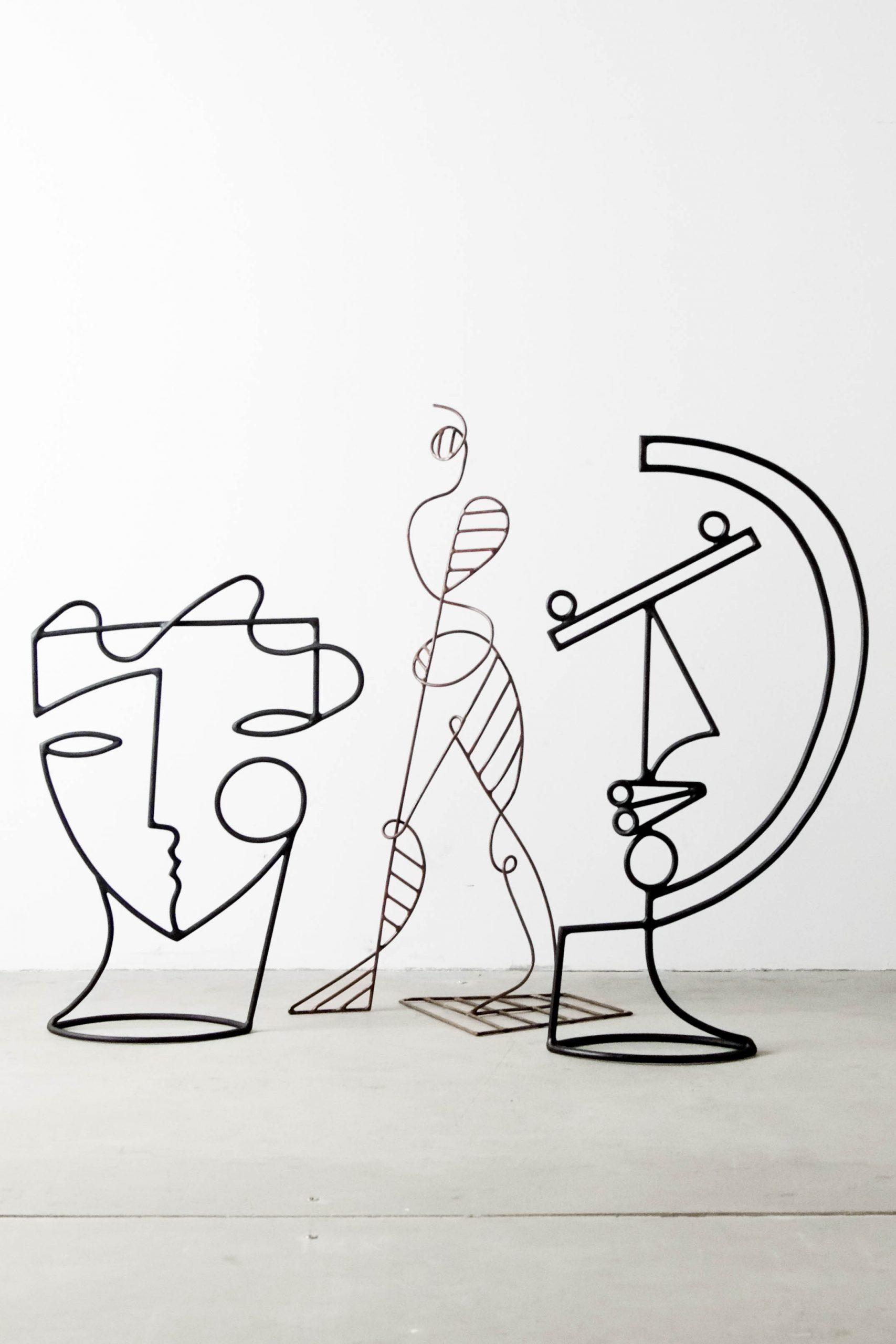 escultura metal diseño fabricado a mano arte artista