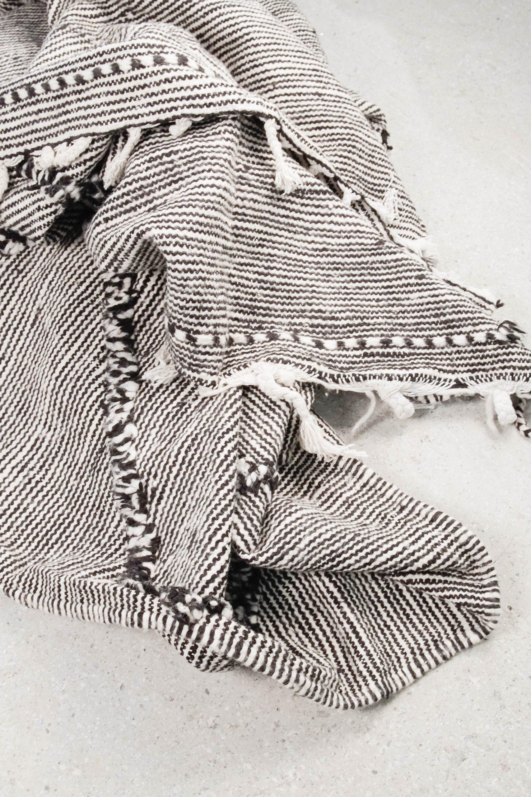 alfombra pepita de oliva marroqui de lana