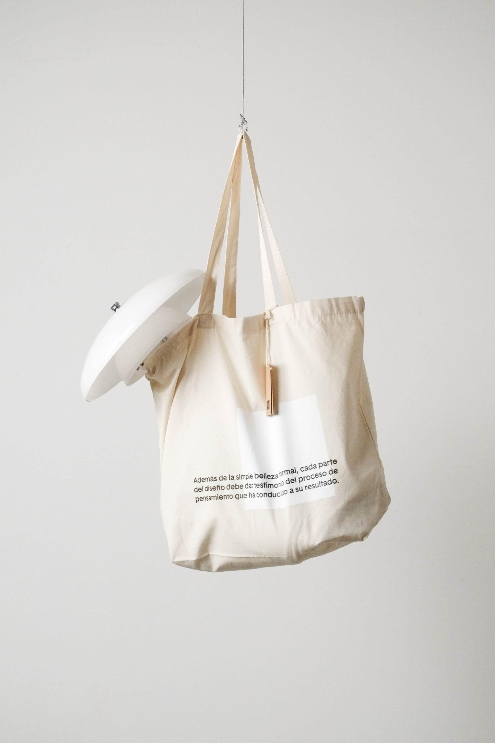bolsa tote organica de diseño de algodon