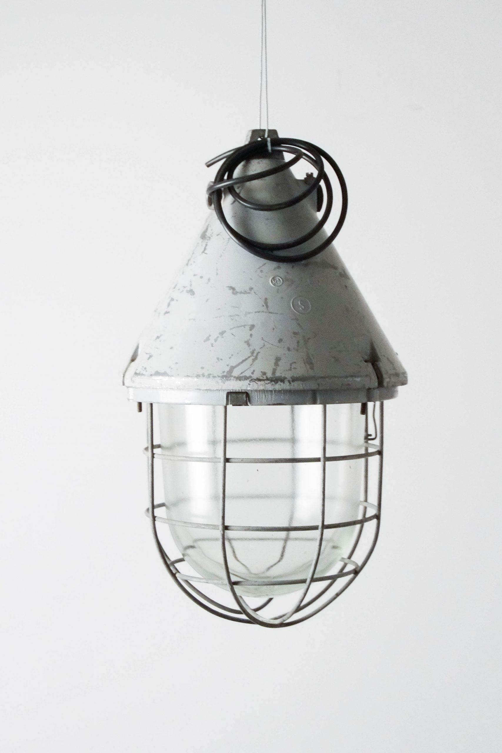 lampara de metal industrial de diseño techo