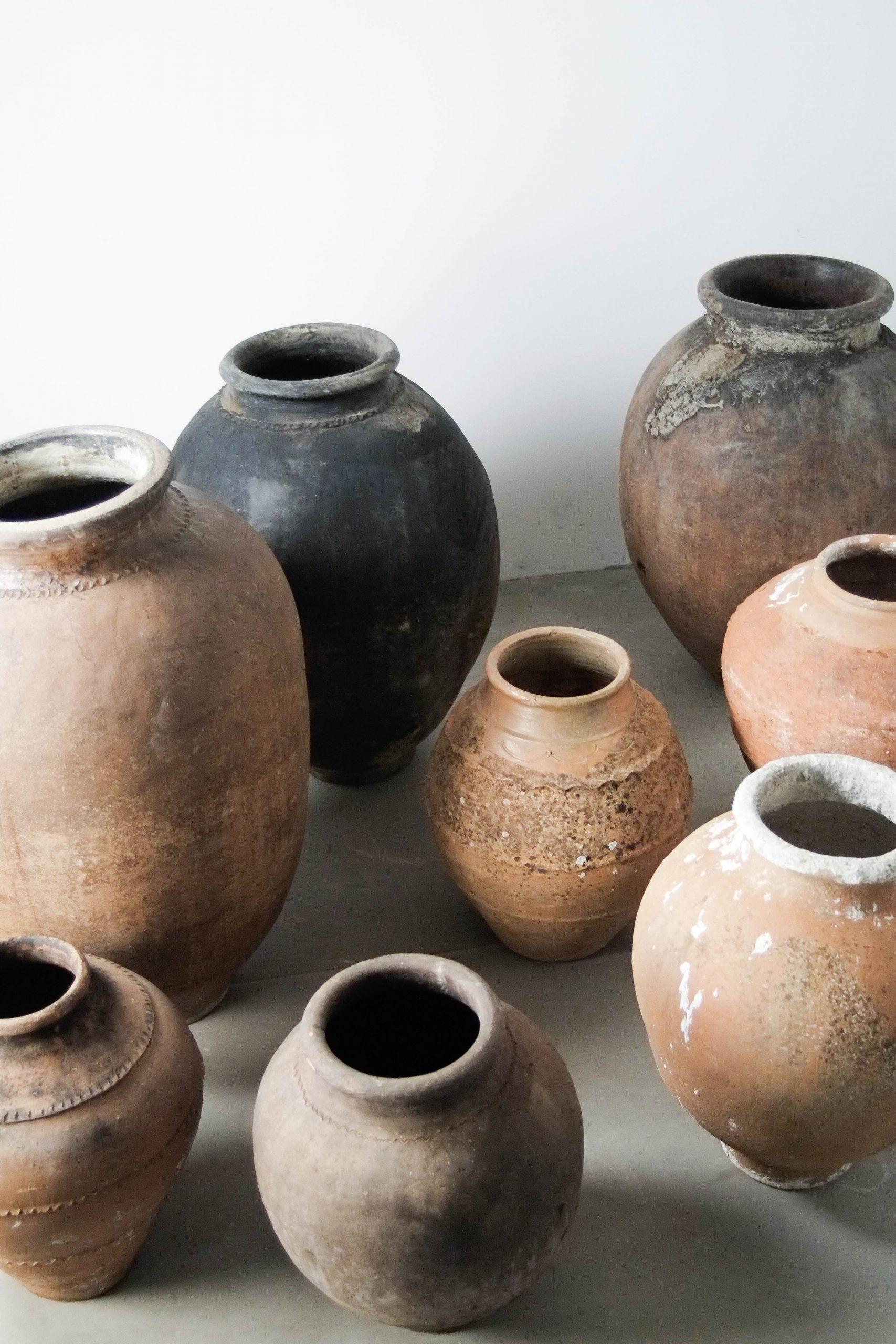 vasijas tinajas de barro antiguas de barro