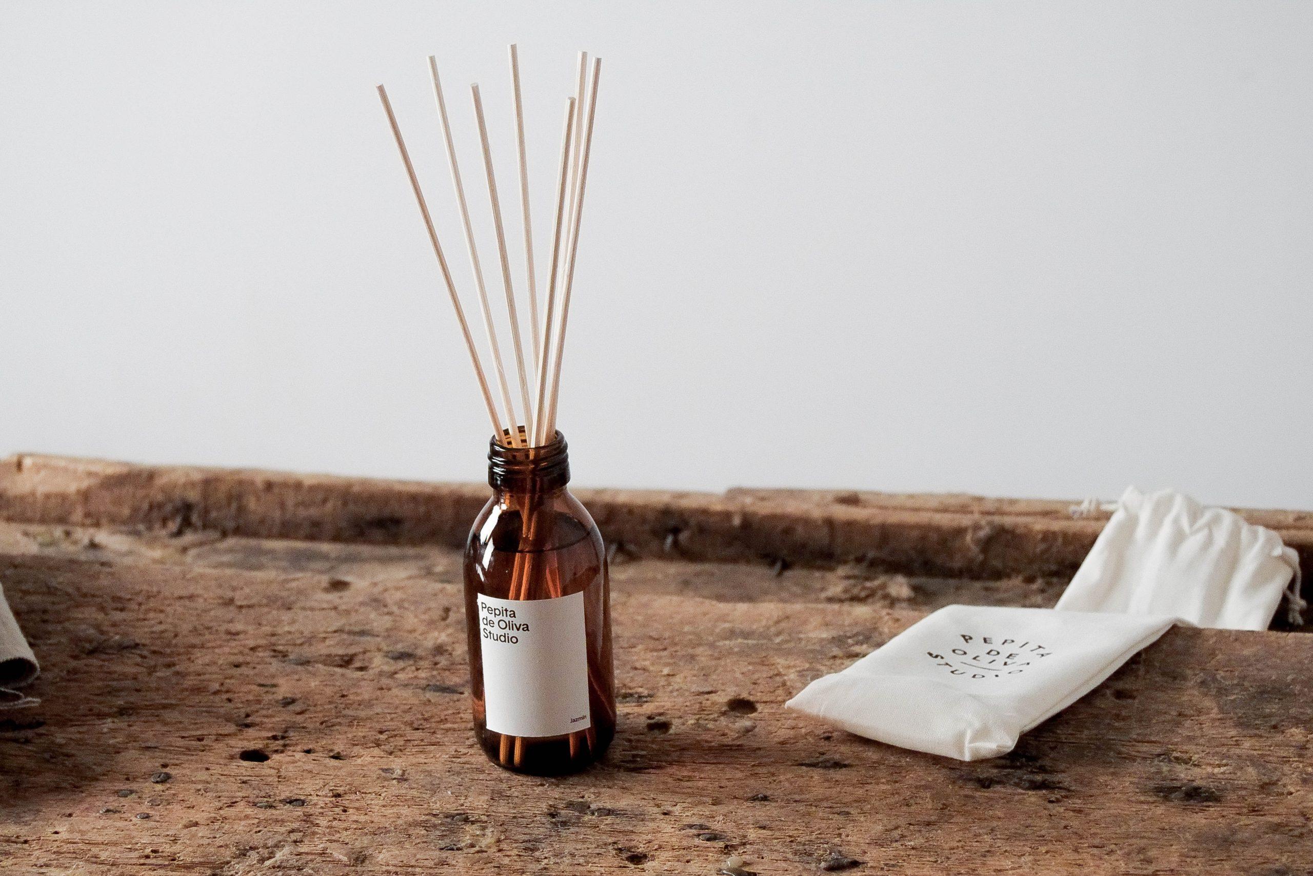 ambientador de jazmin mikados de calidad perfume