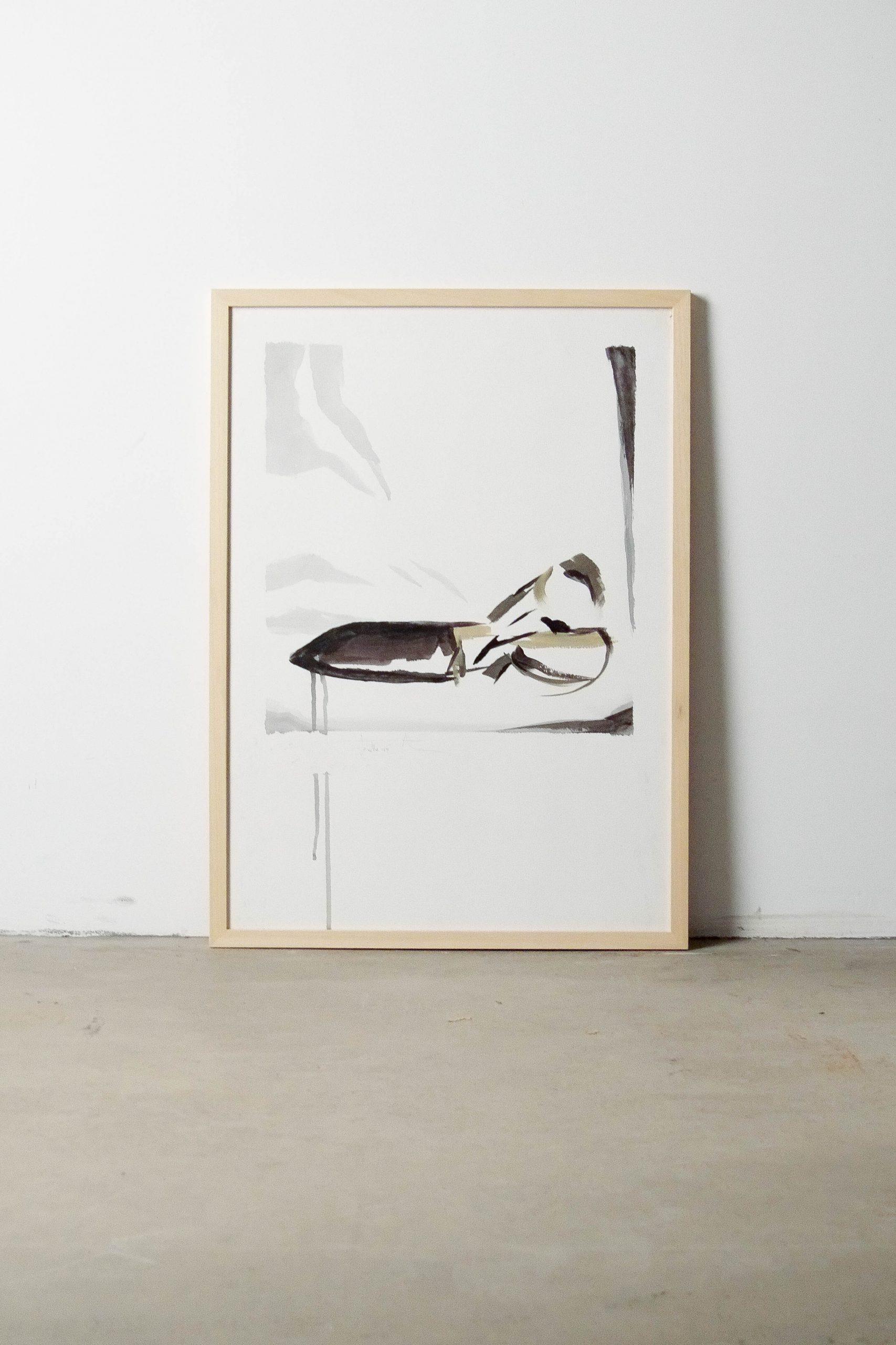 cuadro marco acuarela de diseño hecha a mano arte artista