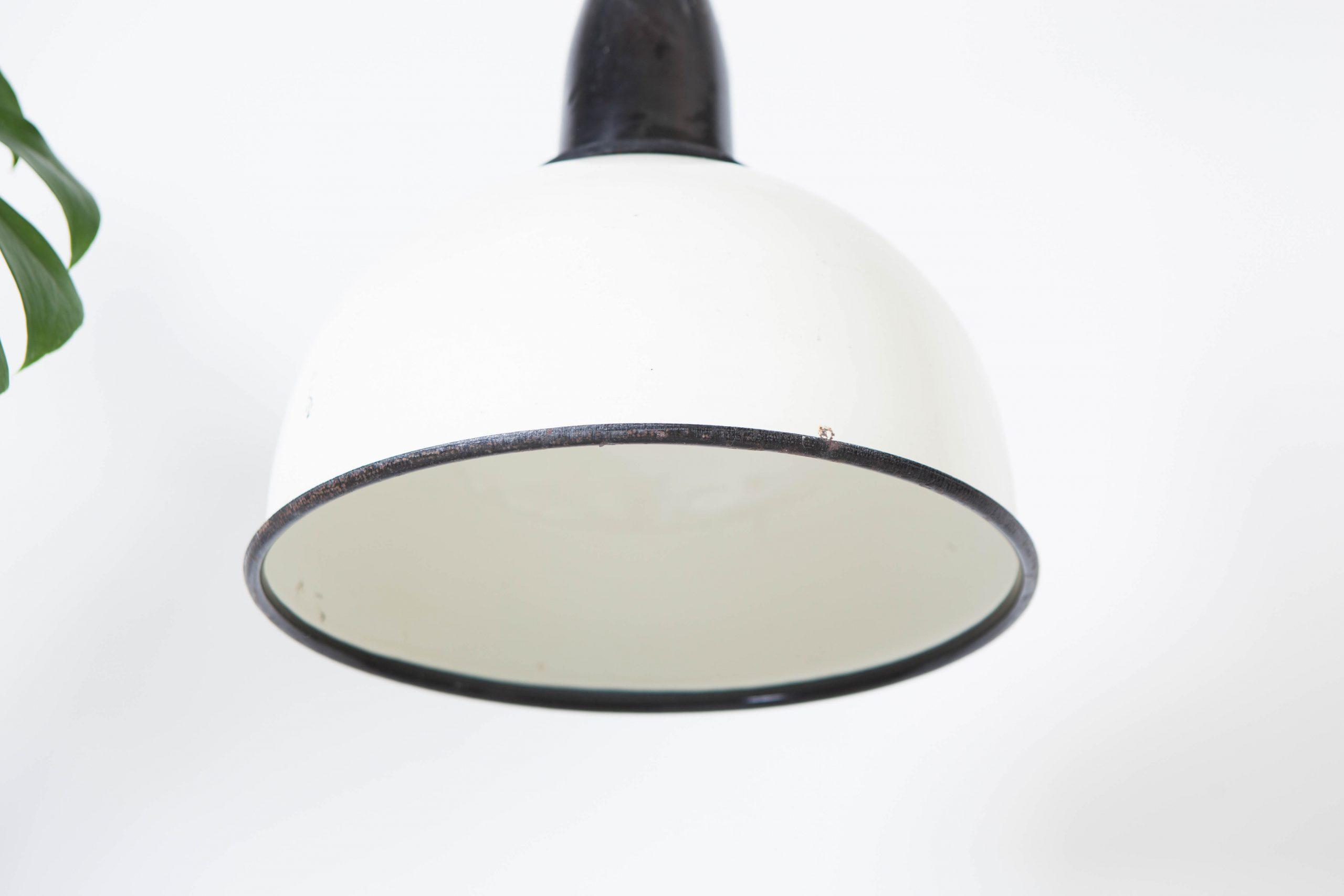 lampara cocina de techo blanca y negra industrial