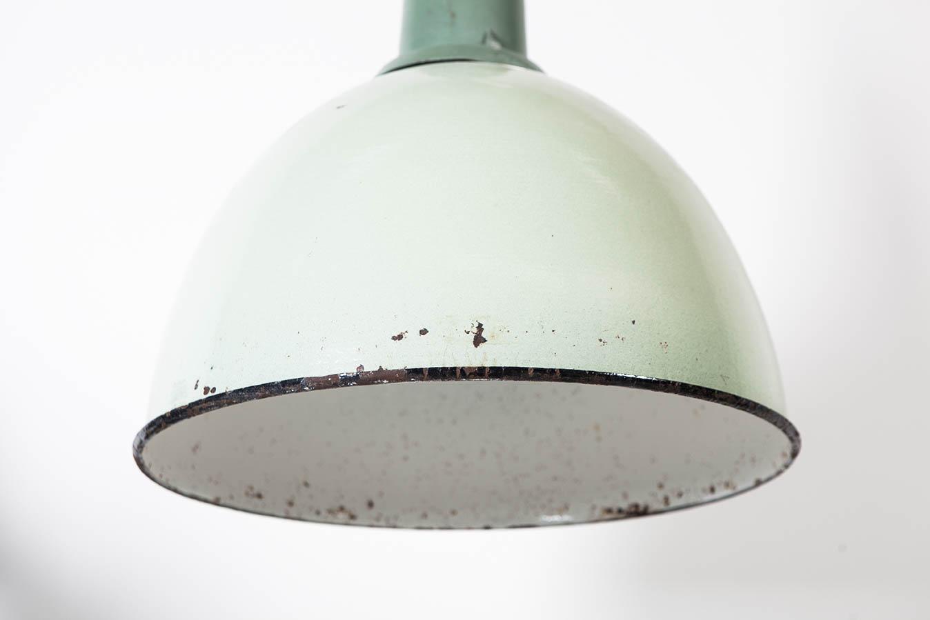 lampara industrial verde de diseño de calidad metalica