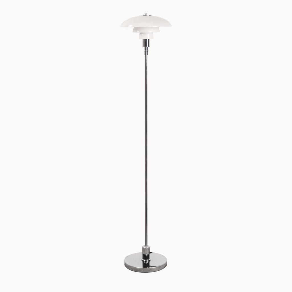 lampara de pie de salon de lectura elegante de diseño