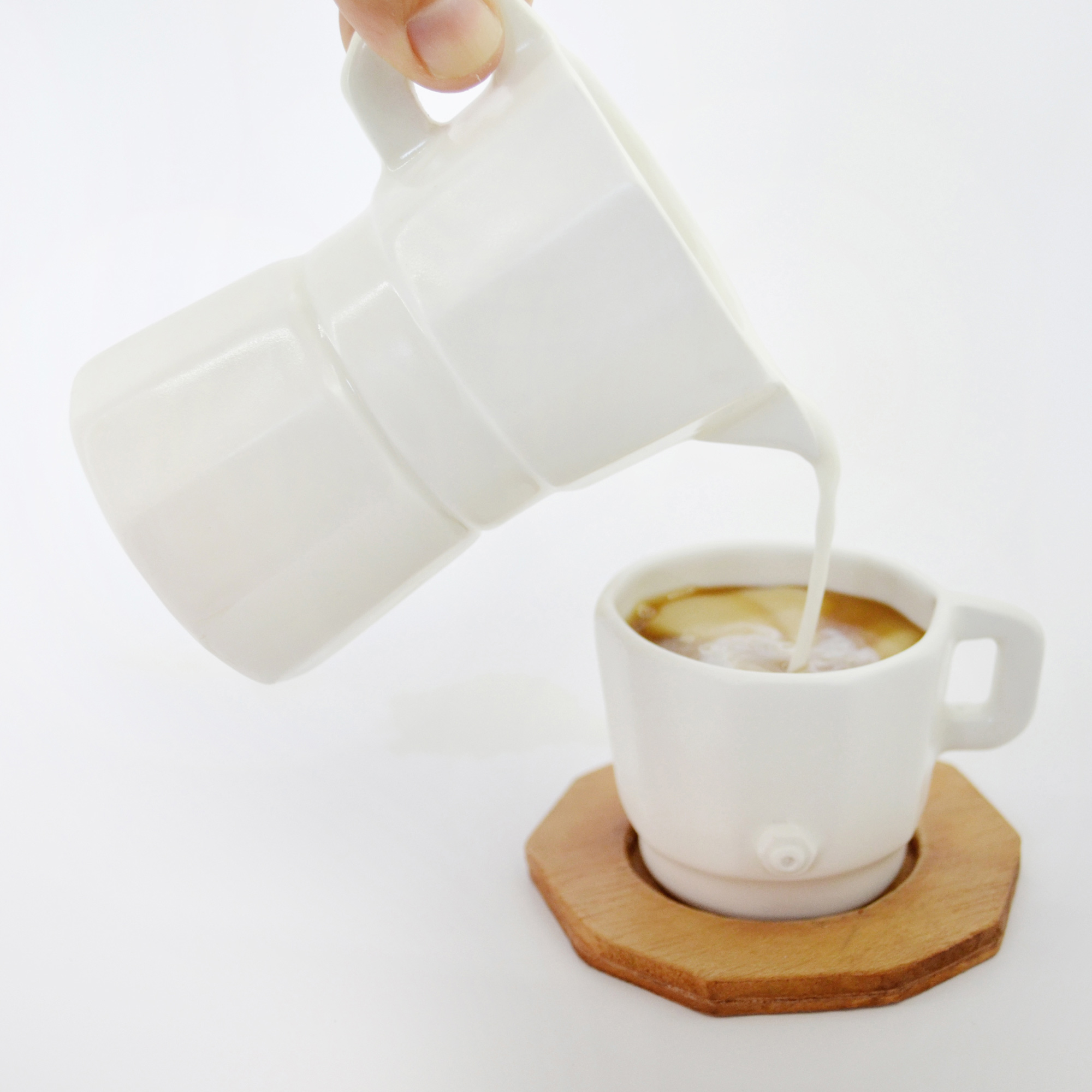 jarra cafetera regalo artesania blanca