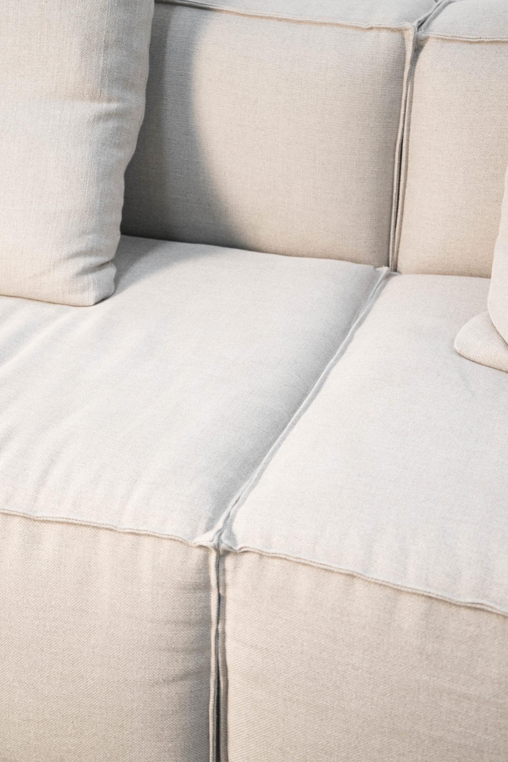 sofa algodon lino beige hecho a mano otto