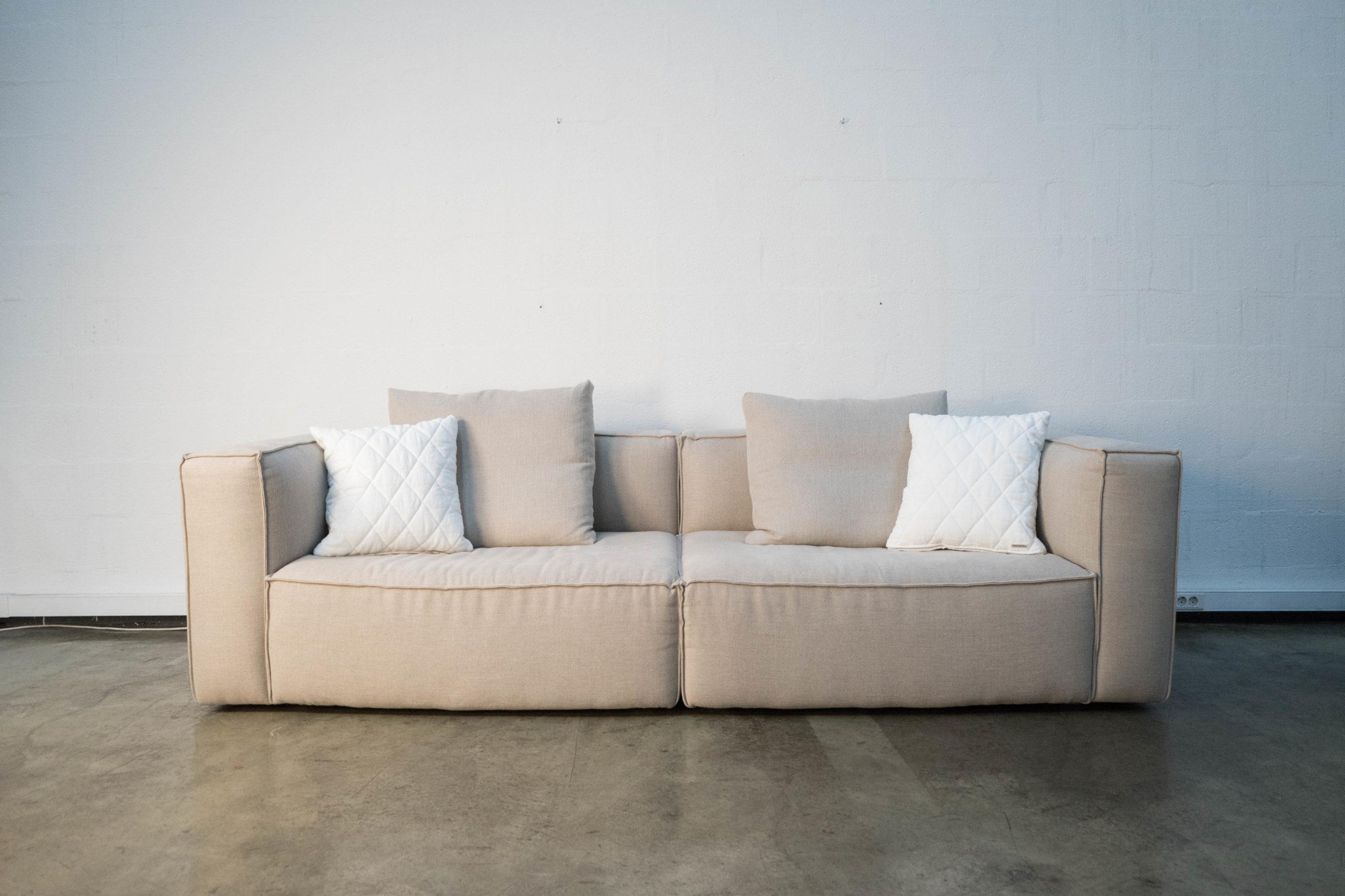 sofa otto algodon lino beige