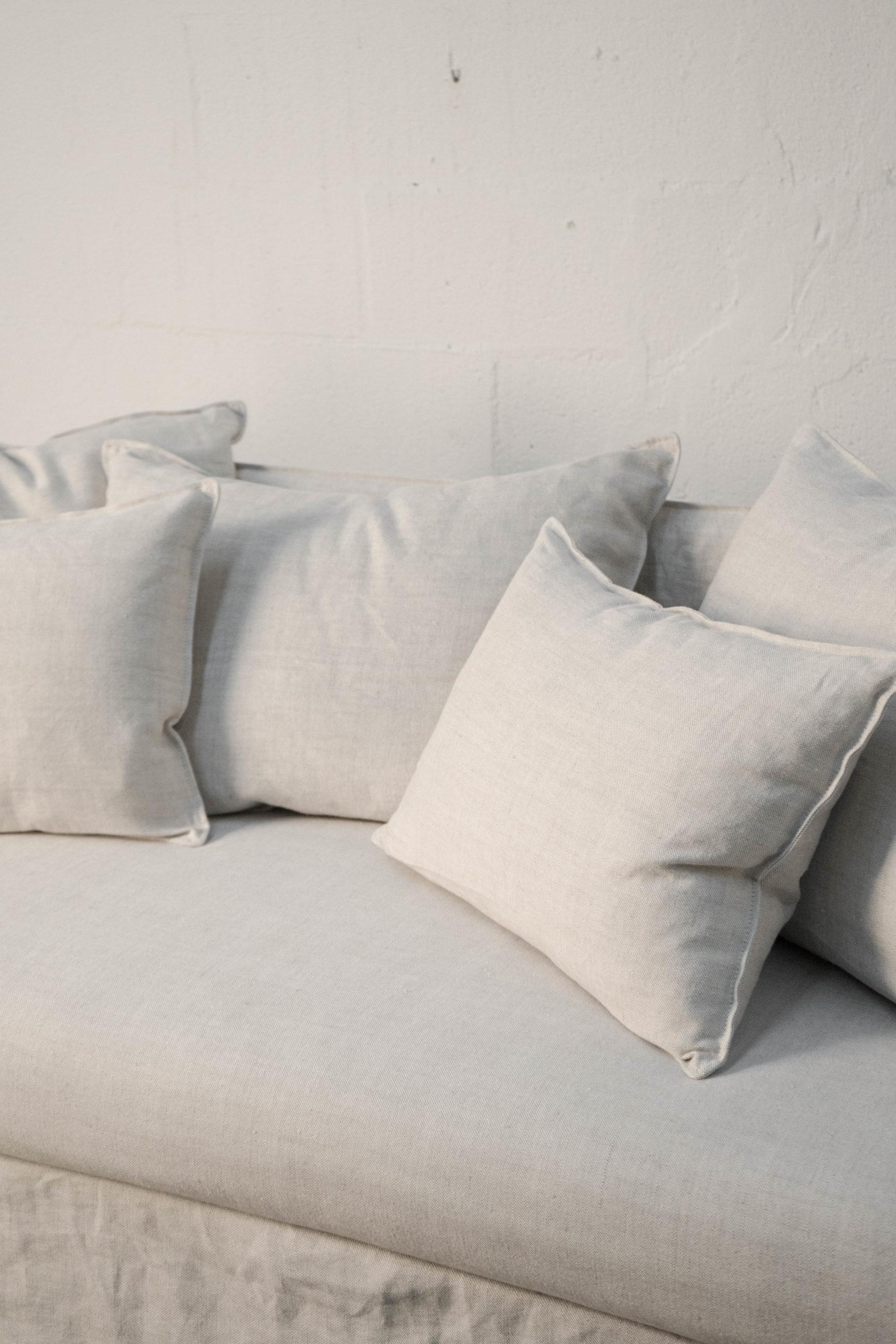 sofade tela de calidad hecho a mano diseño elegante cojines arena tela