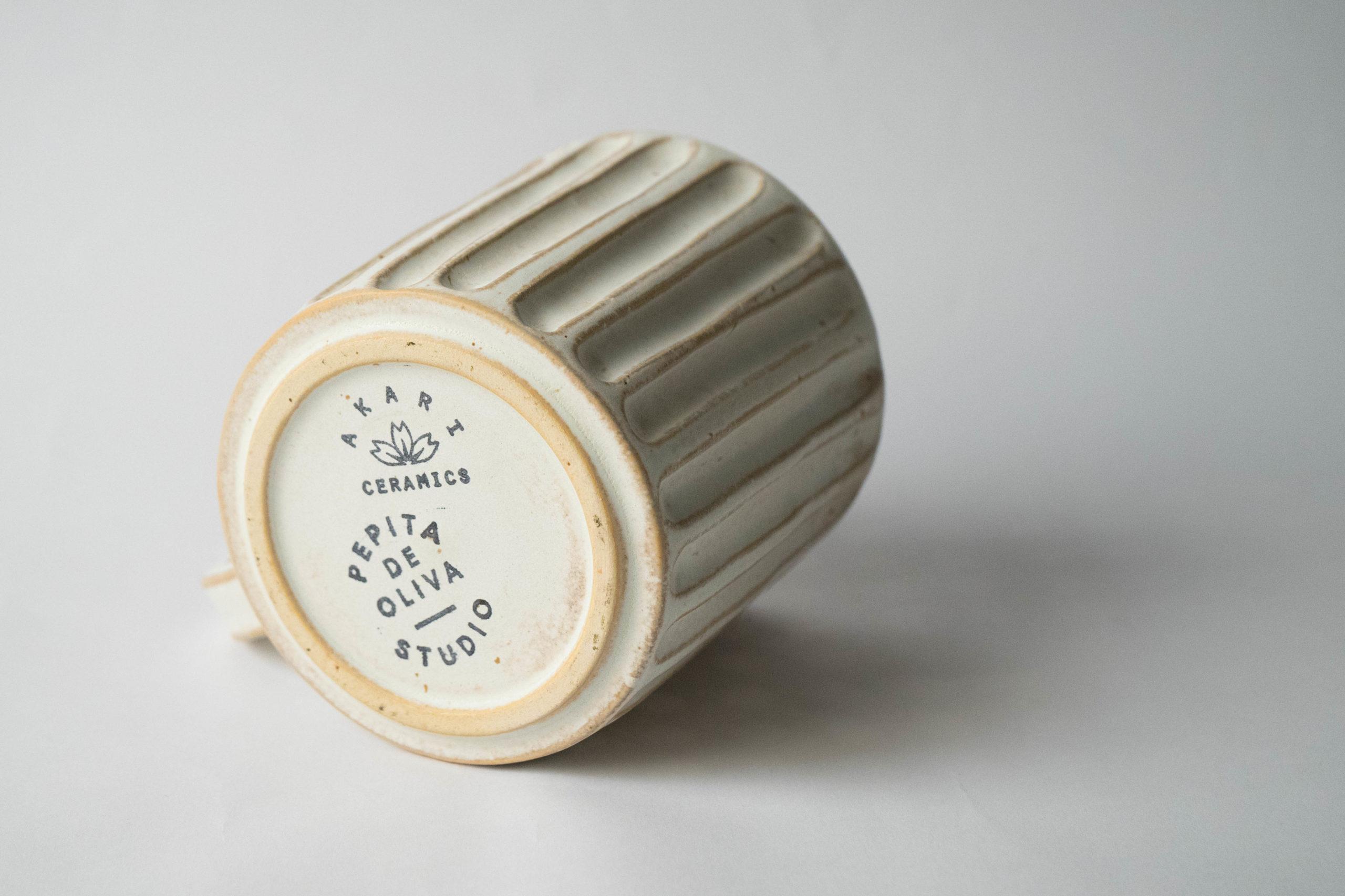 set de tazas ceramicas hecho a mano de diseño elegante clasica deco