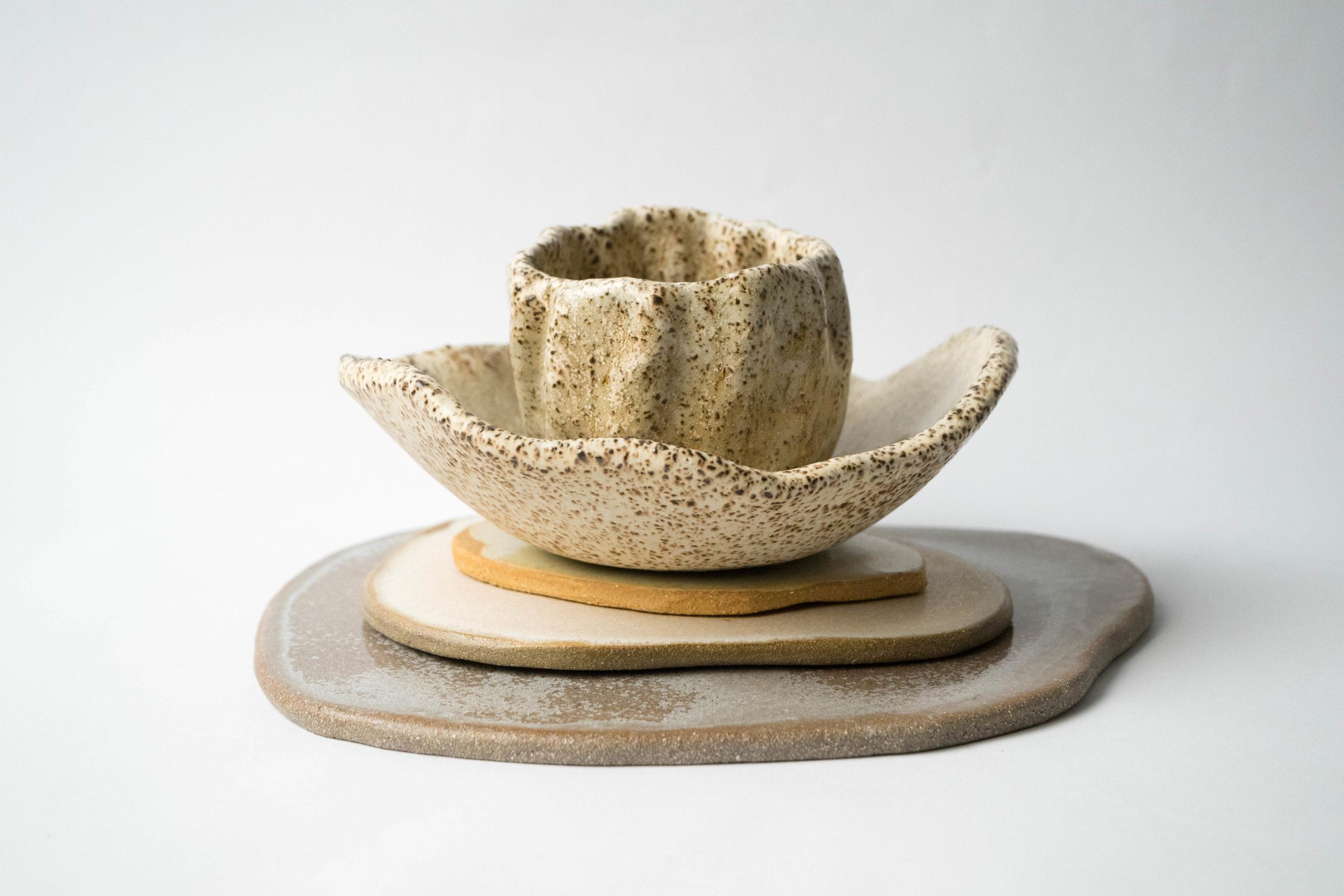 set ceramica decoracion hecho a mano diseño calidad