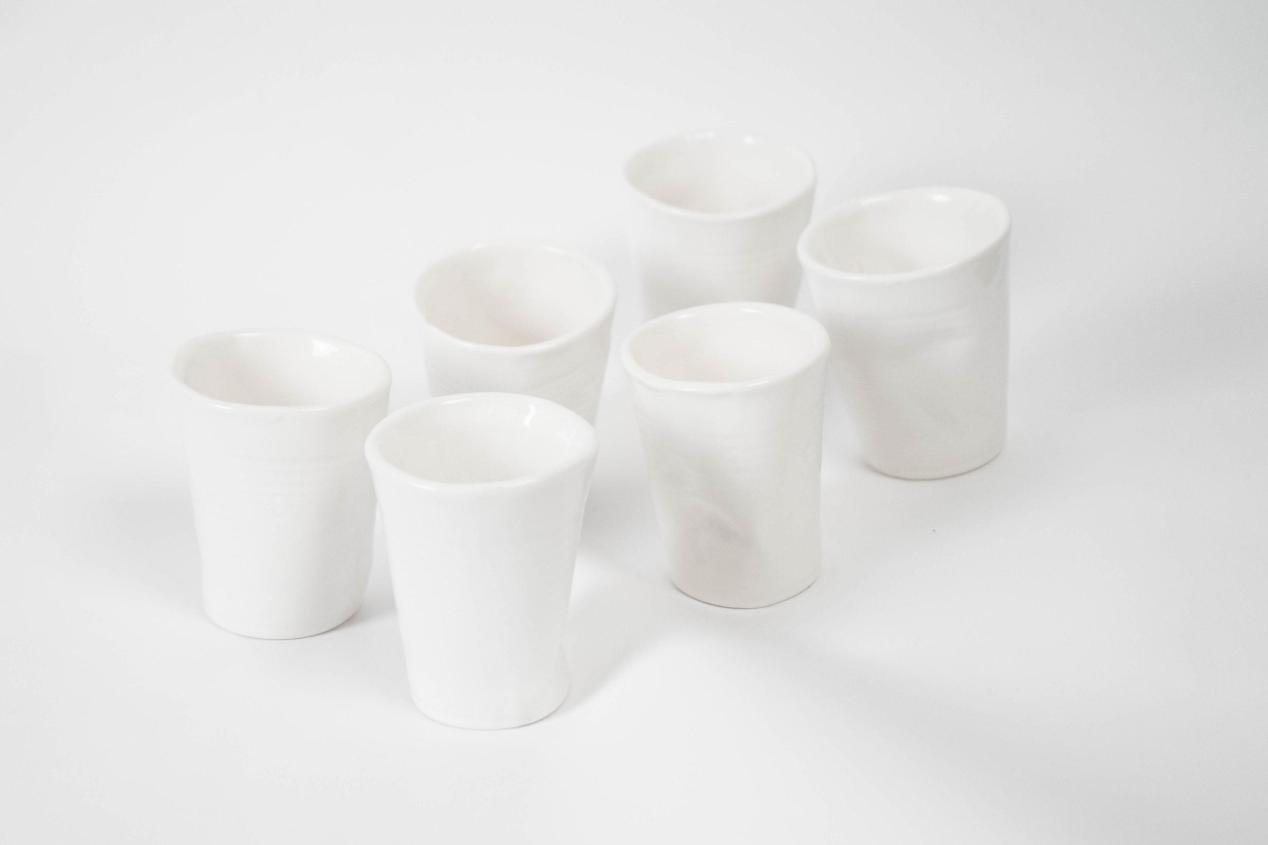 set de vasos fabricados a mano en ceramica