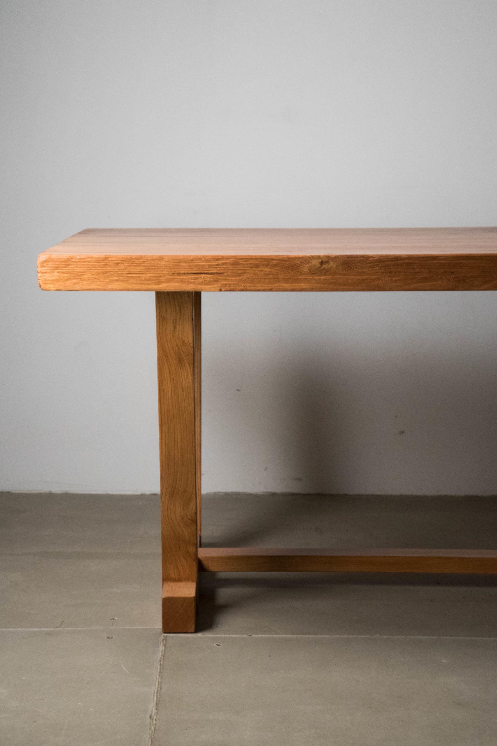 mesa de madera maciza tablero de espesor calidad a medida