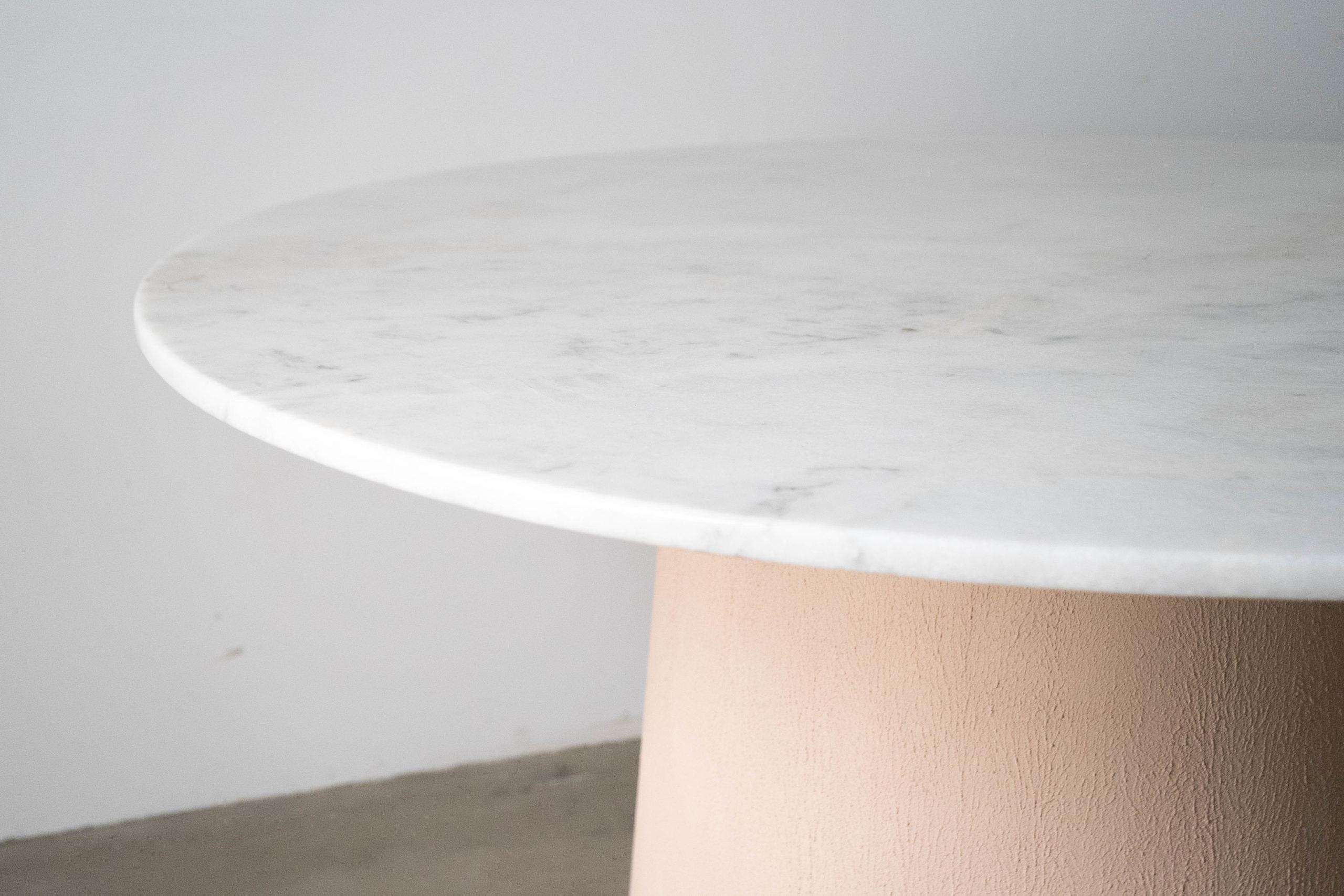 mesa pepita de oliva de mármol de diseño fabricada a mano