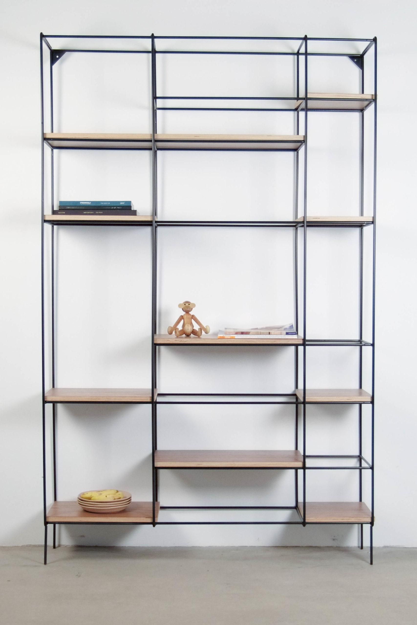 librería elegante de diseño madera modular de diseño hecha a mano