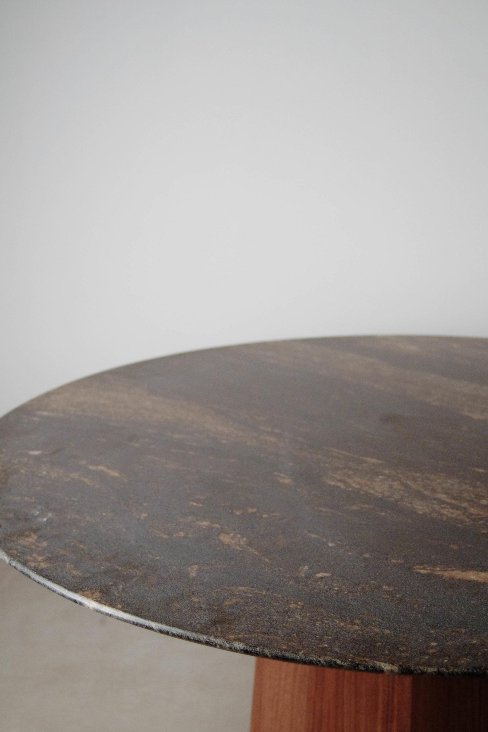 marmol natural piedra sobre de mesa redonda