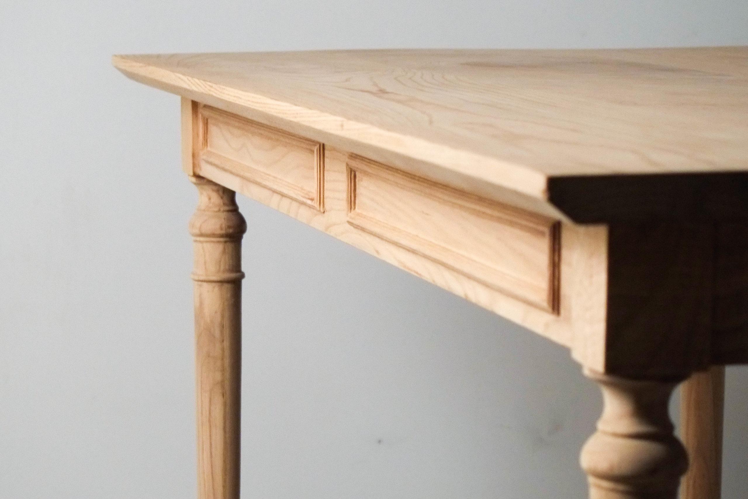 detalle canto mesa de madera de diseño