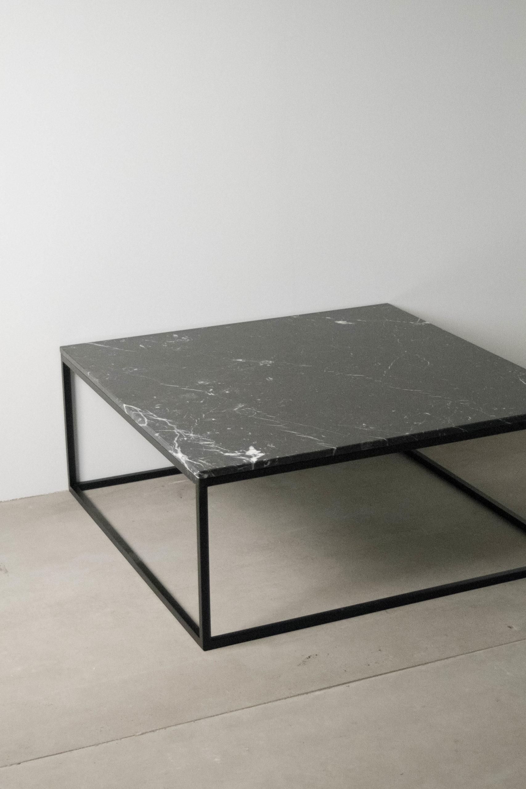 mesa completa de color negro marmo lde cafe salon sofa