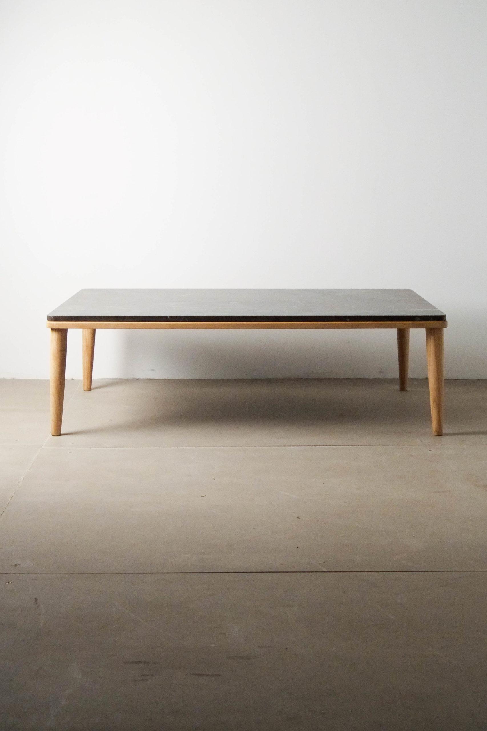 vista general mesa de marmol hecha a mano