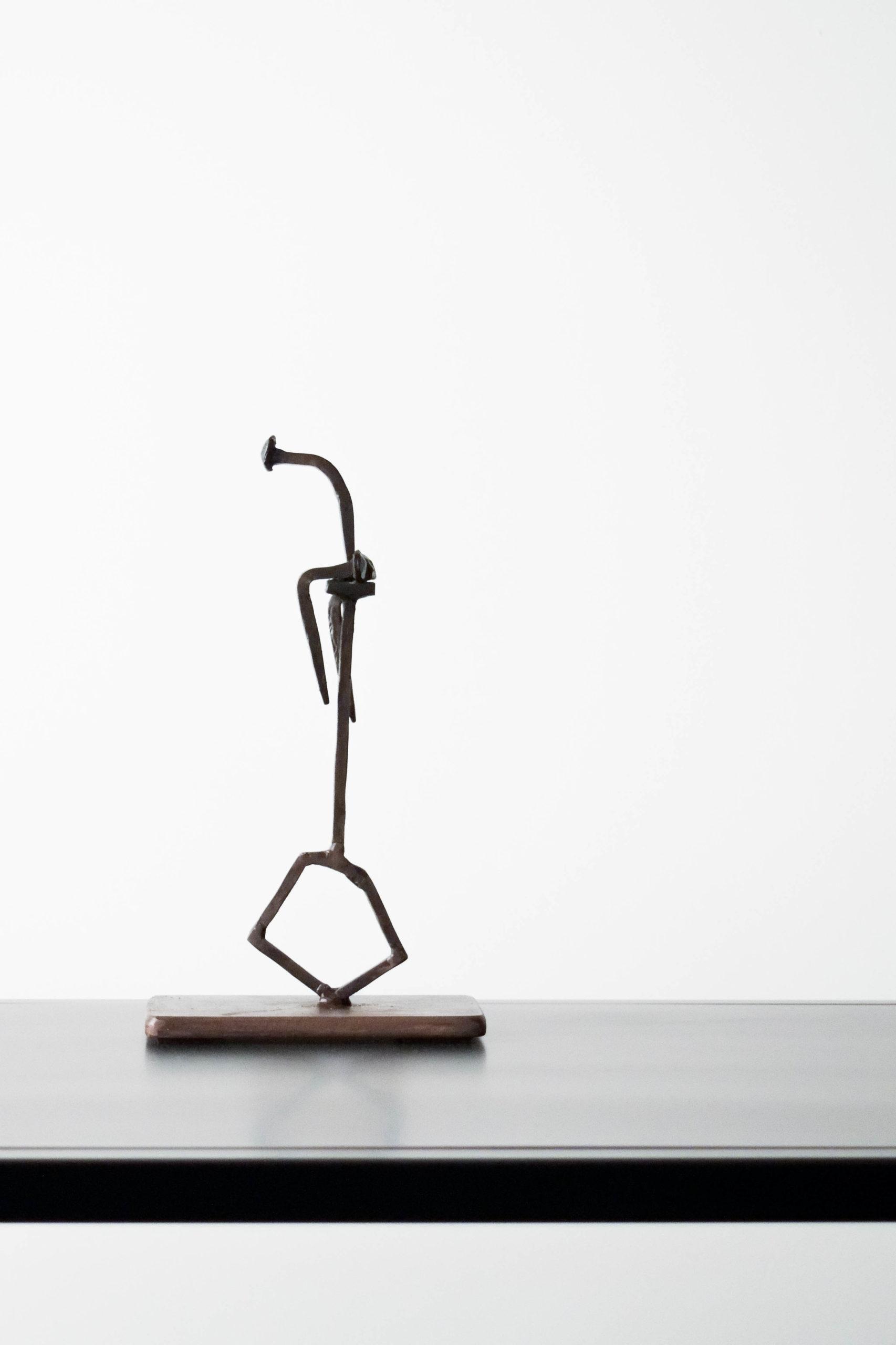 escultura decoracion emile gireau de metal hierro forjado