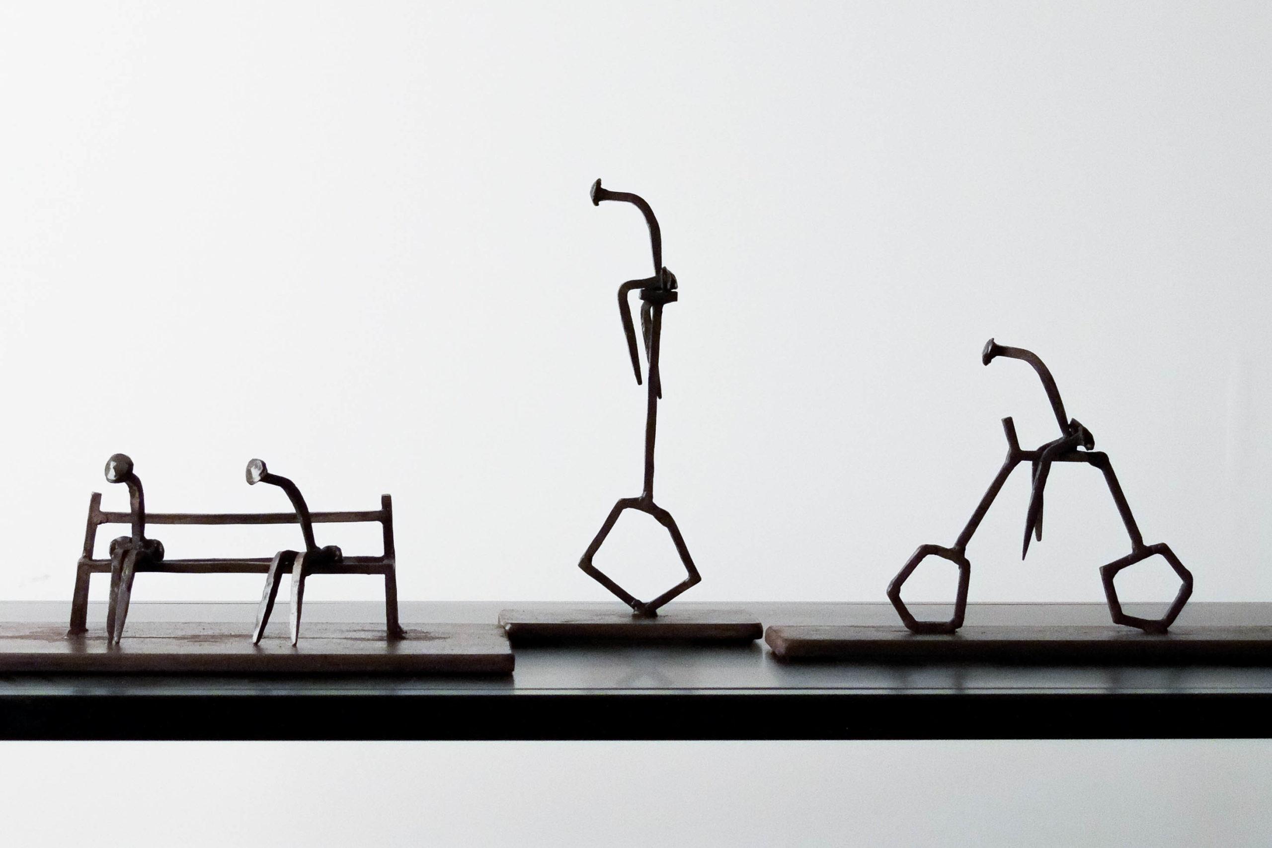 escultura emile gireau coruña arte diseño metal decoracion