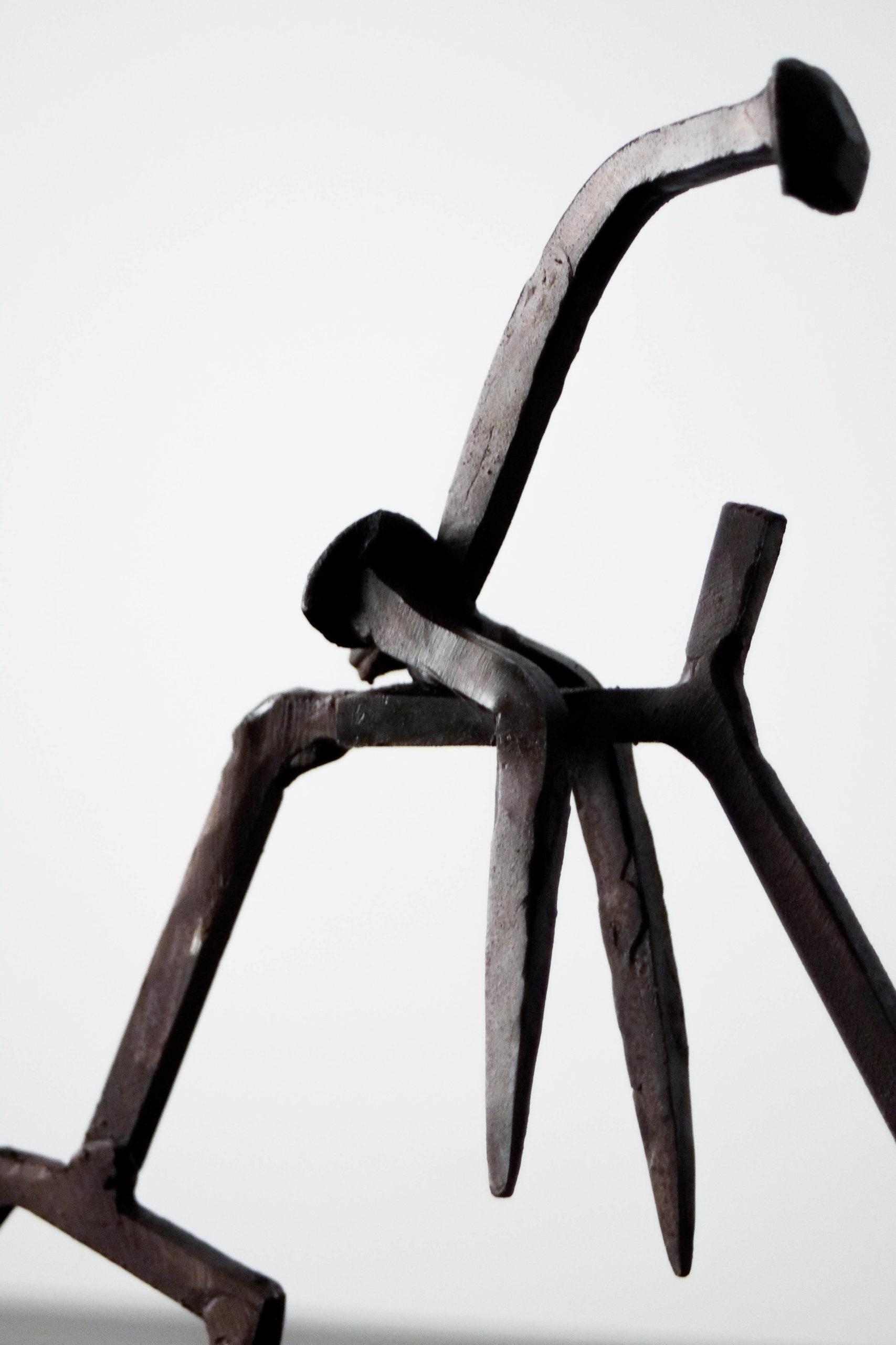 metal hierro diseño escultura de diseño elegante