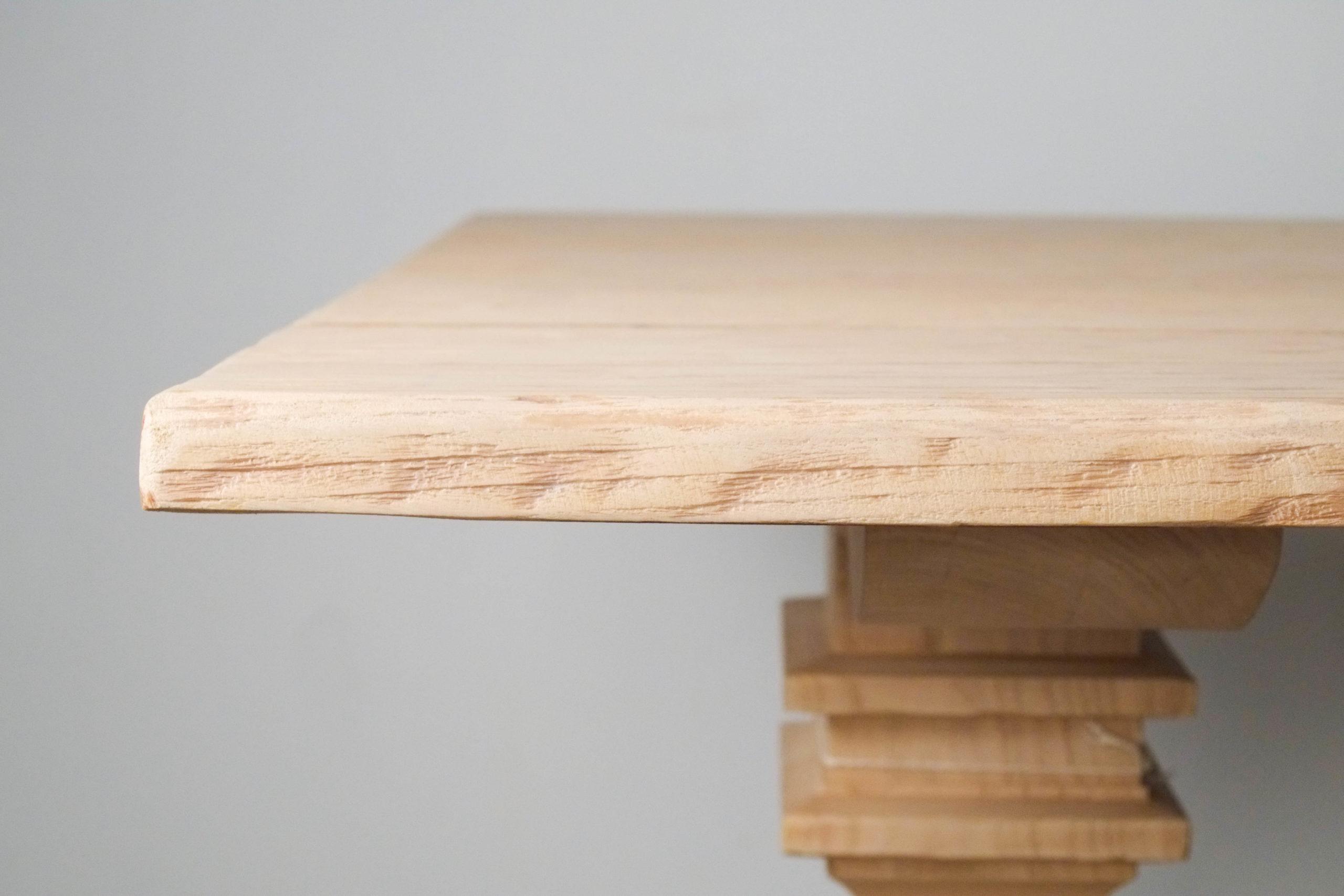 borde de mesa natural envejecida de calidad