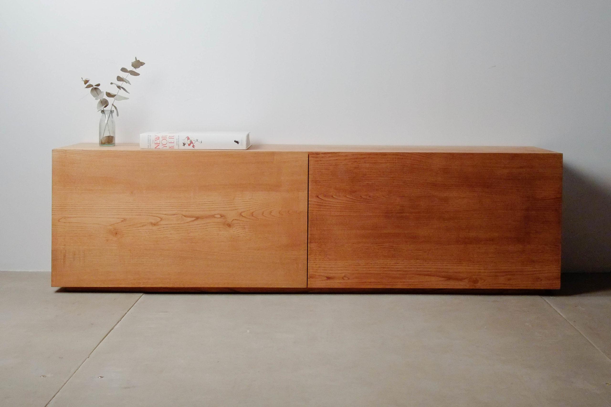mueble de tv de castaño