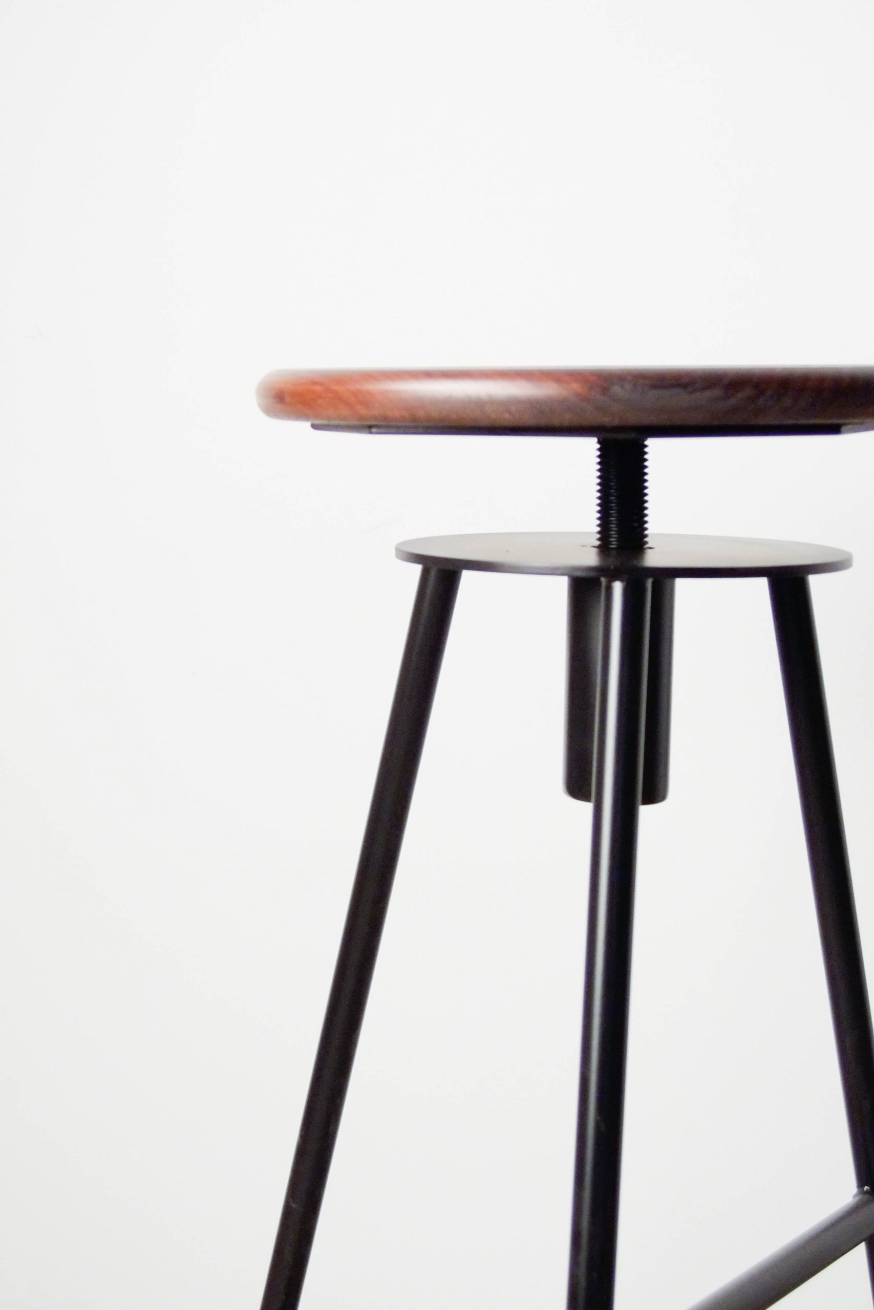 taburetes hechos a medida de metal madera redonda de cocina