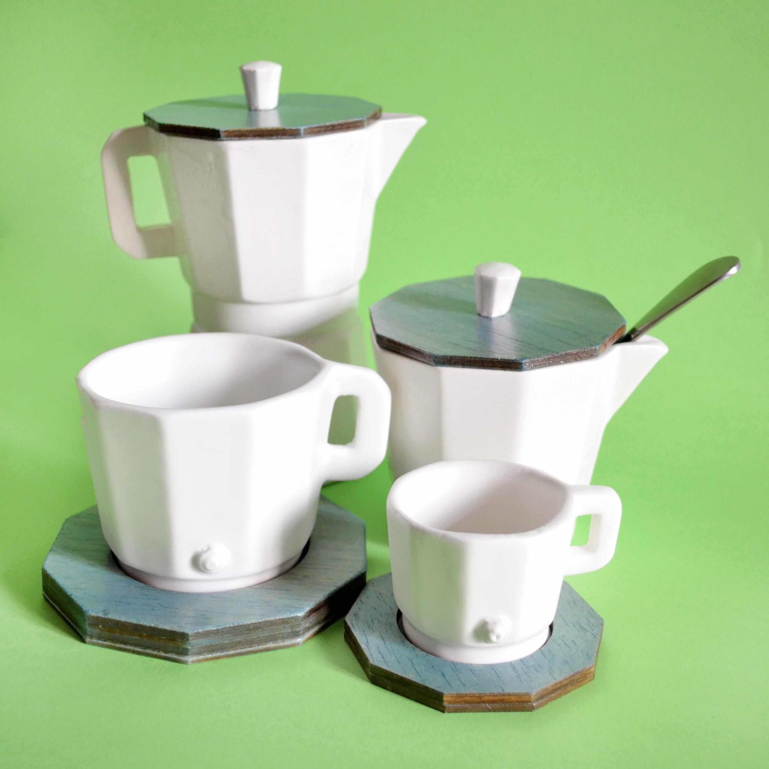 set de cafe hecho a mano fabircado a mano en españa artesania moka cafe azucar