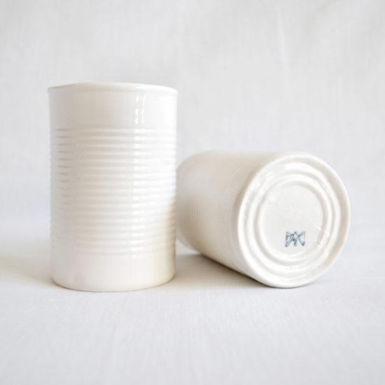 lata no plastic reciclada vaso diseño elegante
