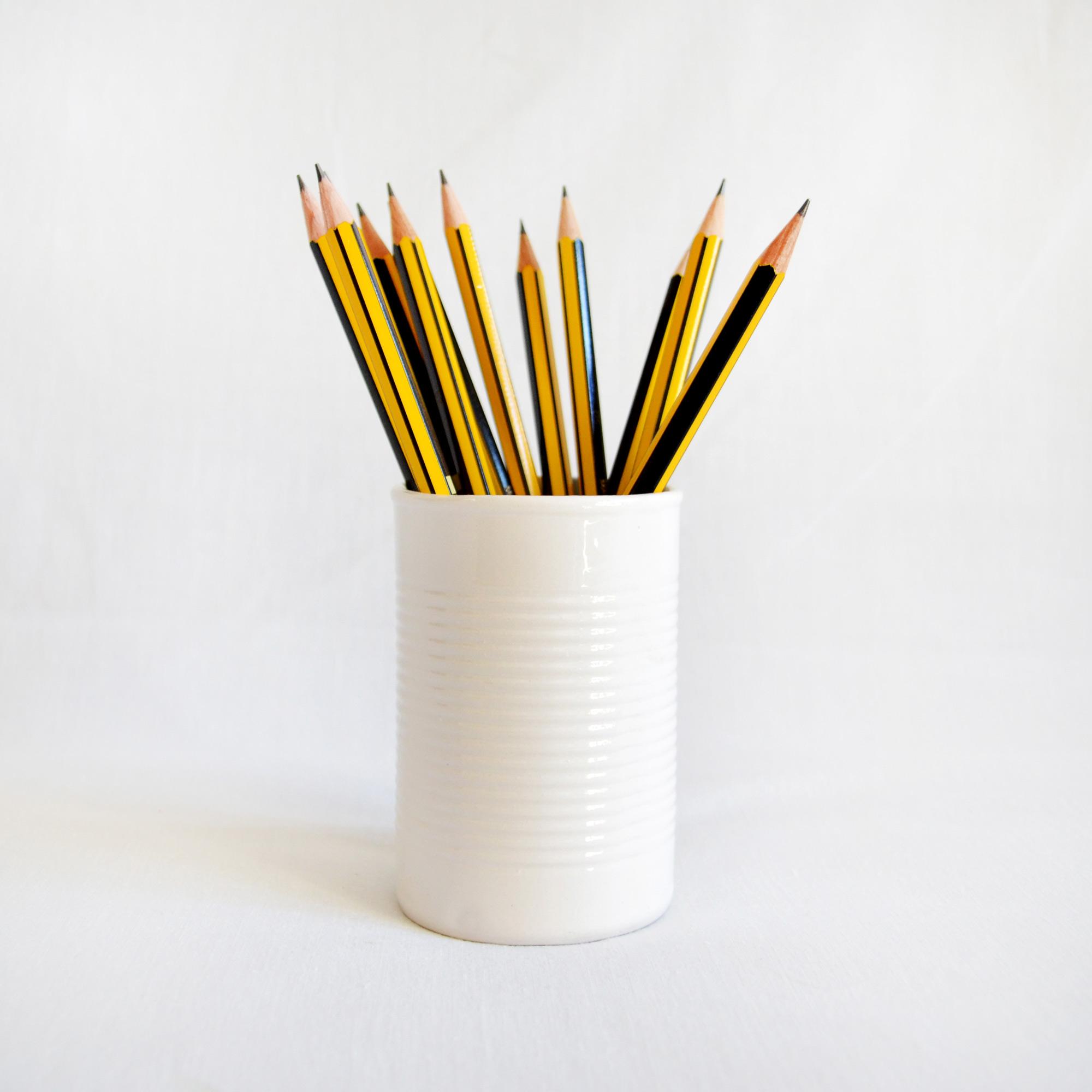lata blanca elegante vaso diseño blanco