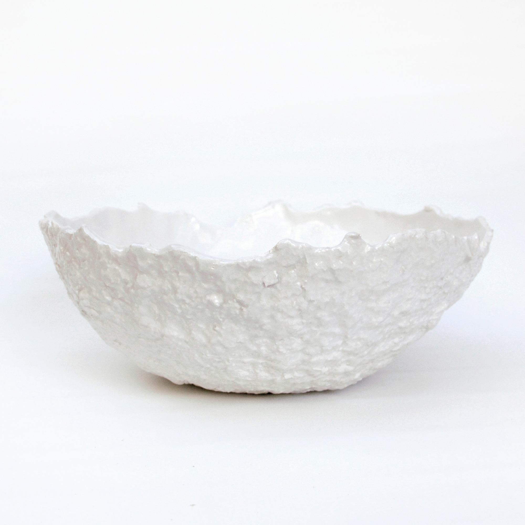 fabricados a mano cuenco blanco ceramico blanco papel mashe hecho a mano