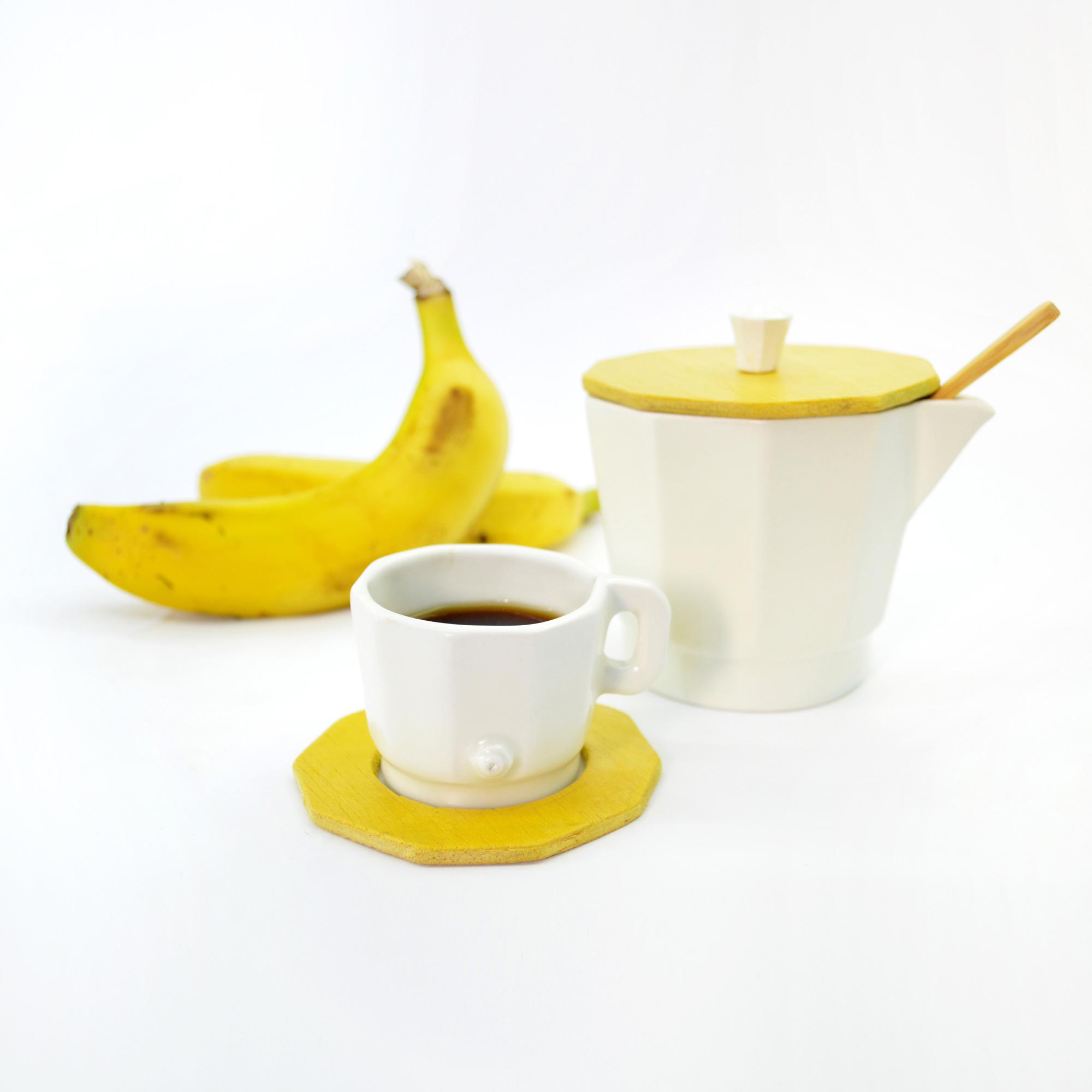 set de cafe cafetera de diseño ceramica azucar azucarero de calidad hecho a mano en loza blanca