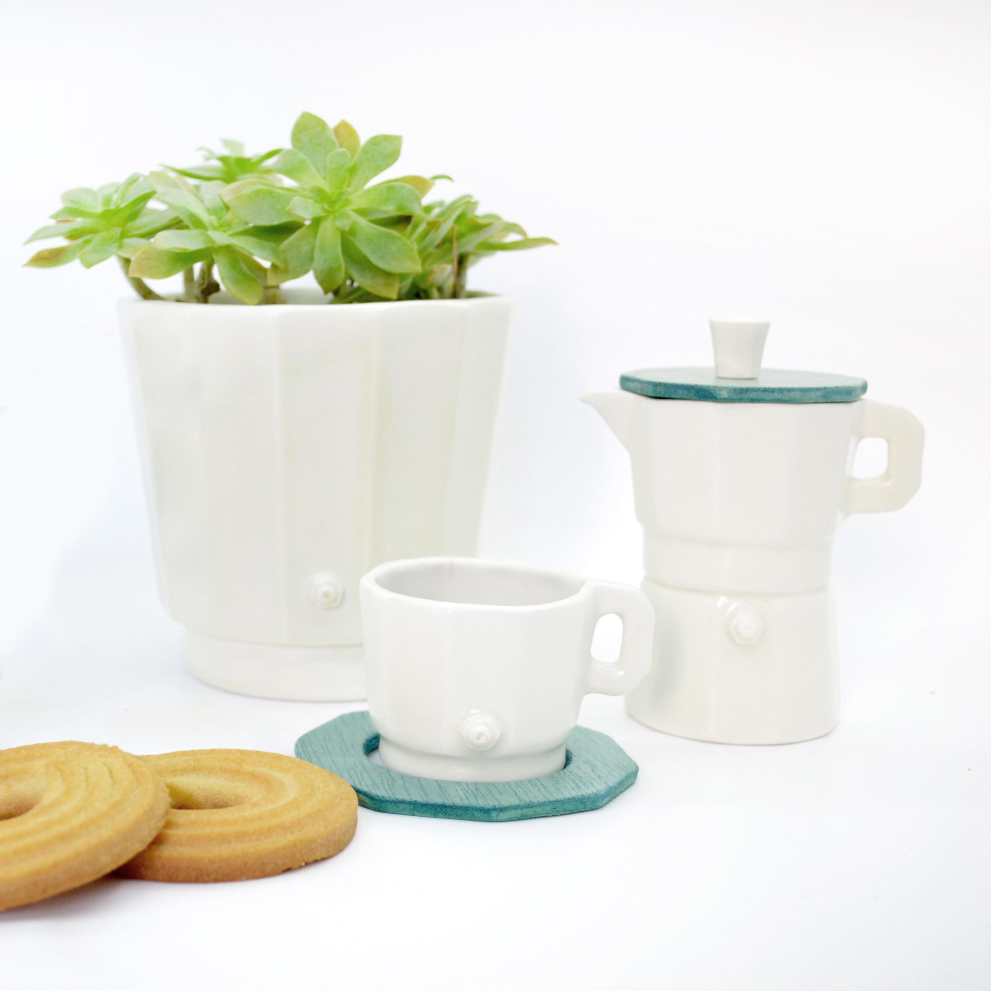 bol grande ceramico de diseño blanco hecho a mano