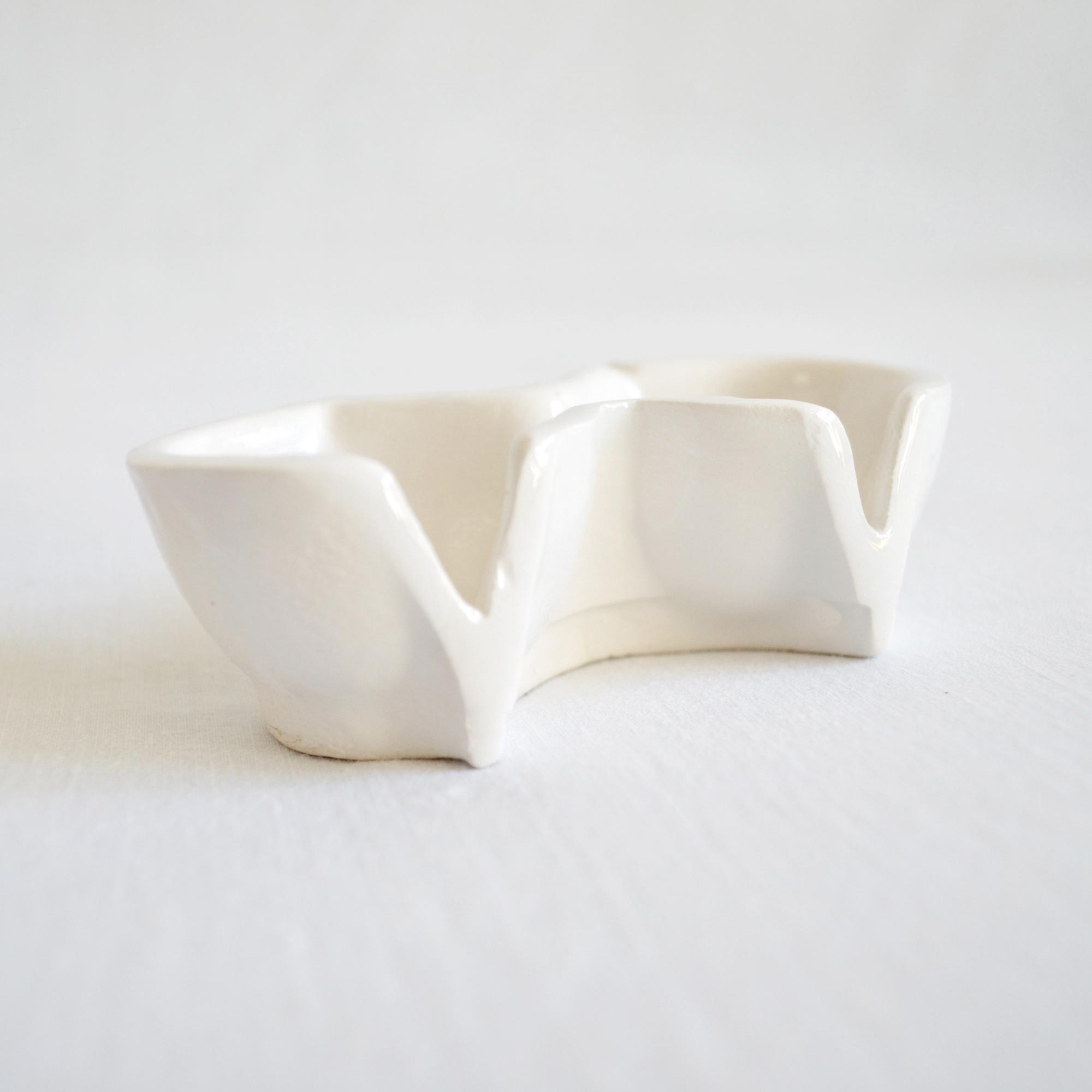salero ceramico cocina diseño blanco hecho a mano