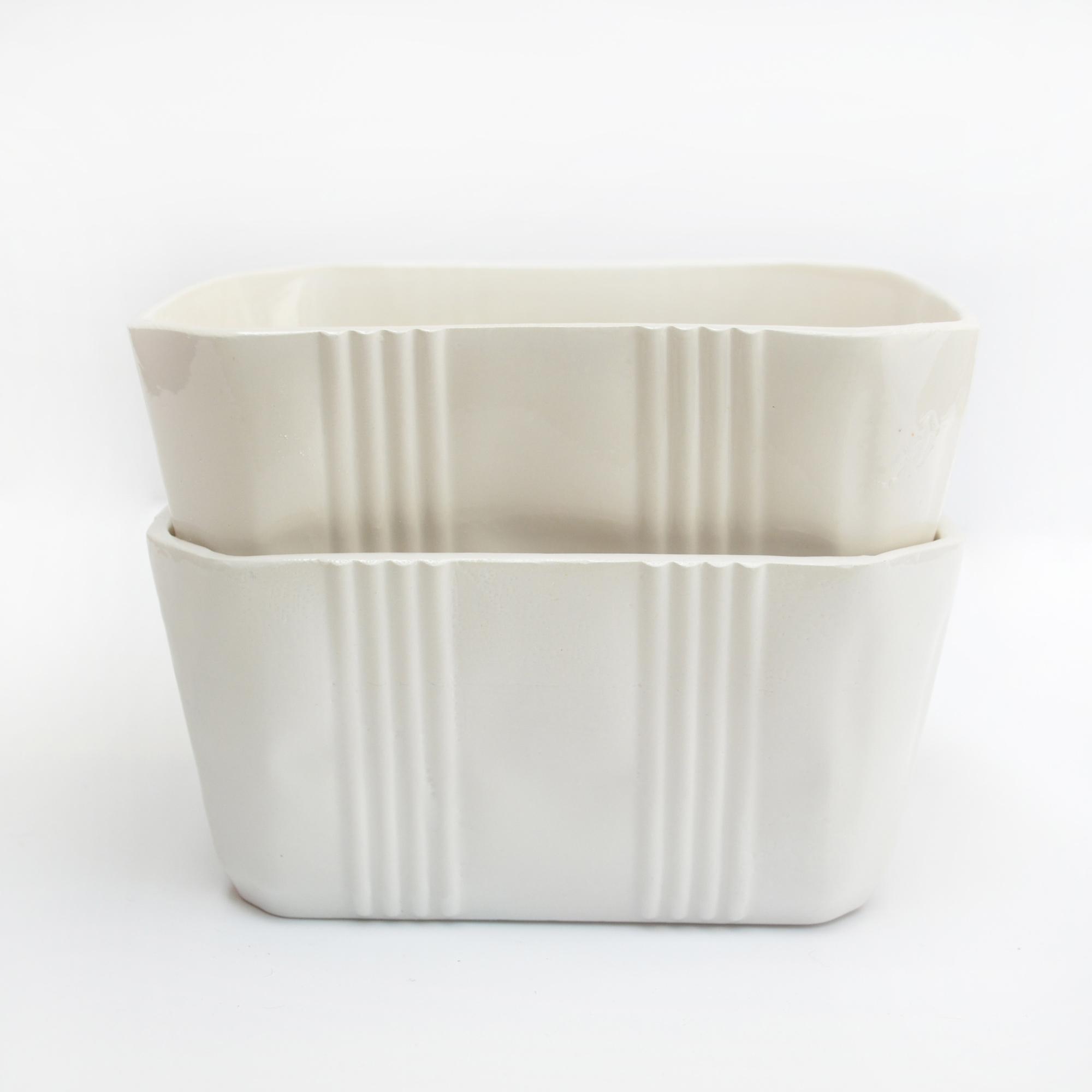 recipientes de loza tuppers hechos a mano diseño artesania loza