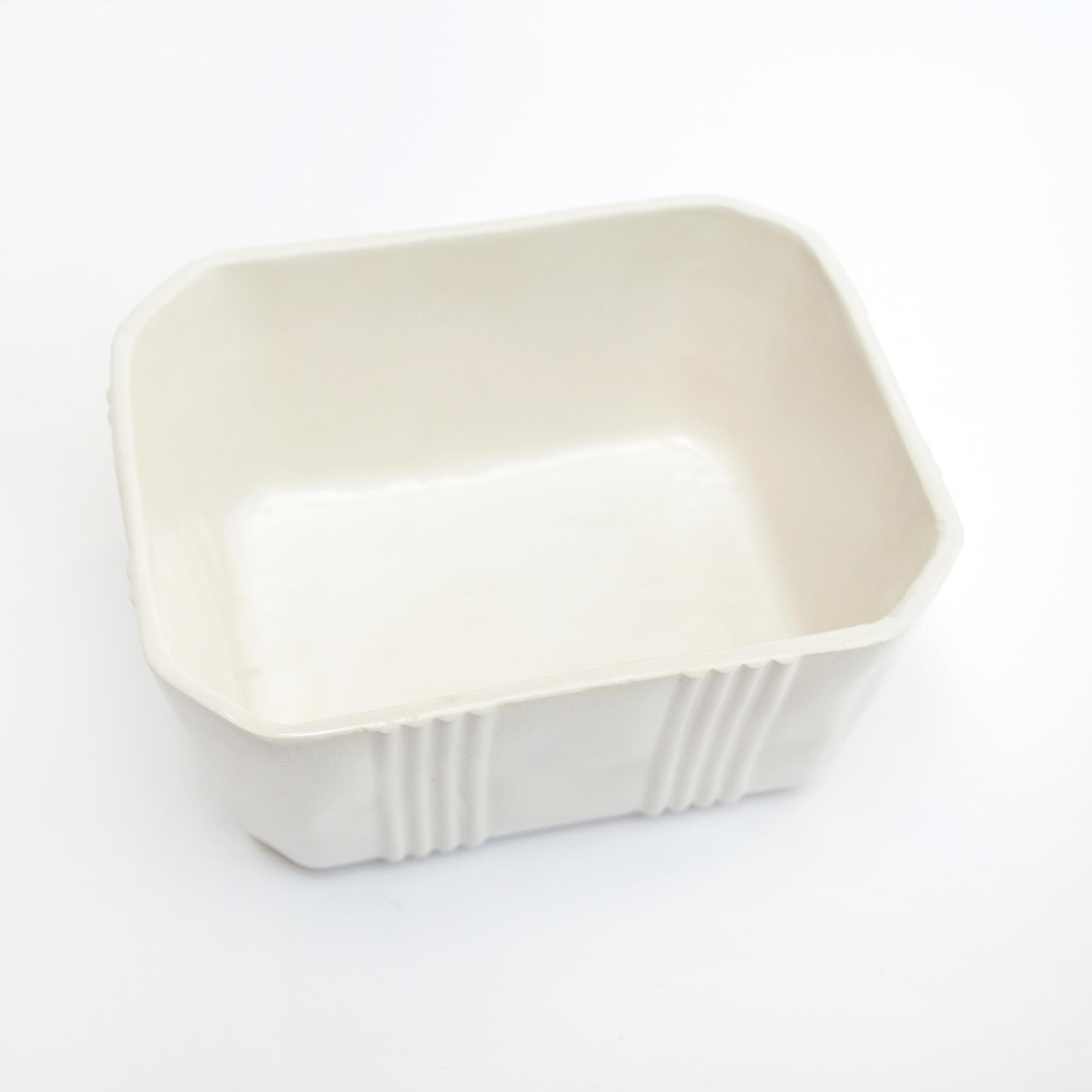 tupper contenedor ceramico blanco loza