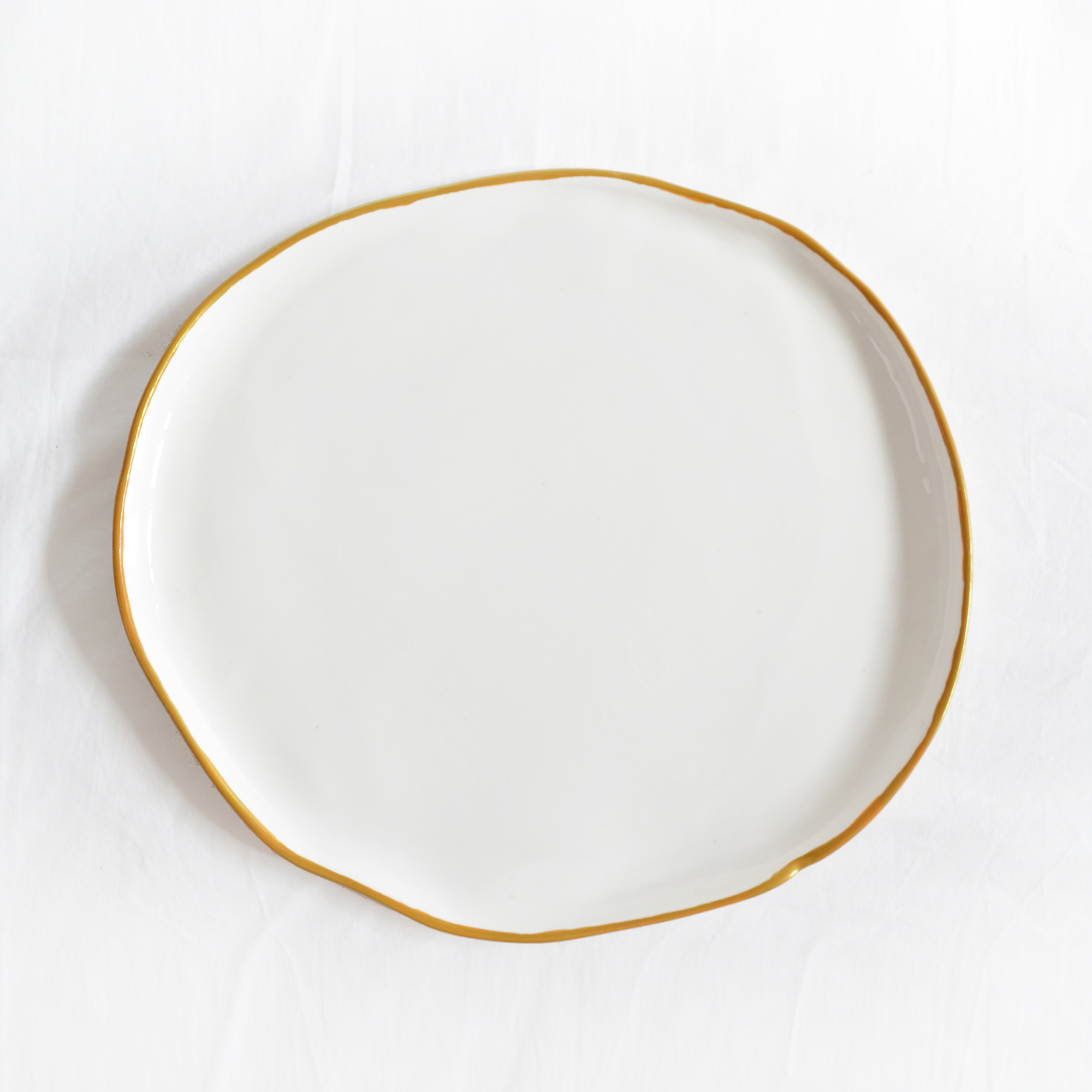 plato llano grande fabricado a mano miyaya de diseño