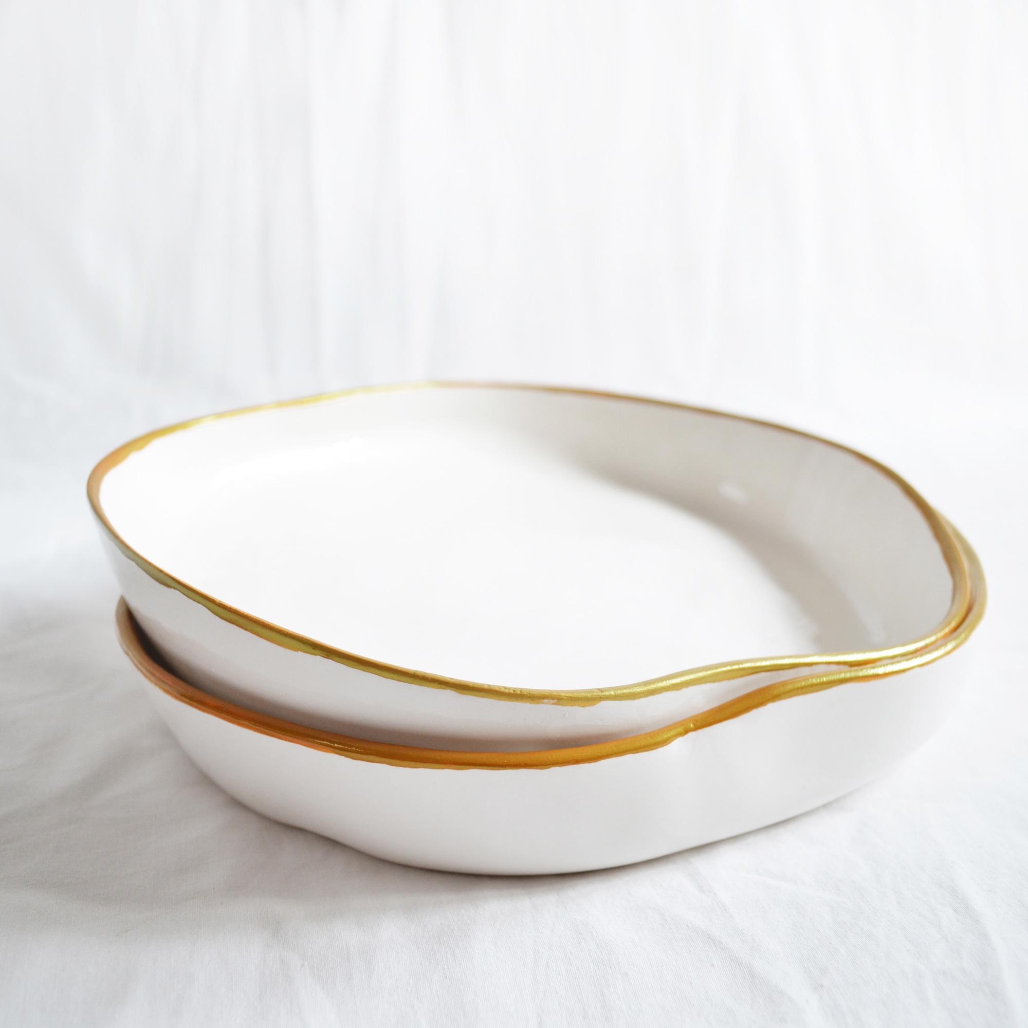 platos irregulares de diseño fabricados a mano de calidad